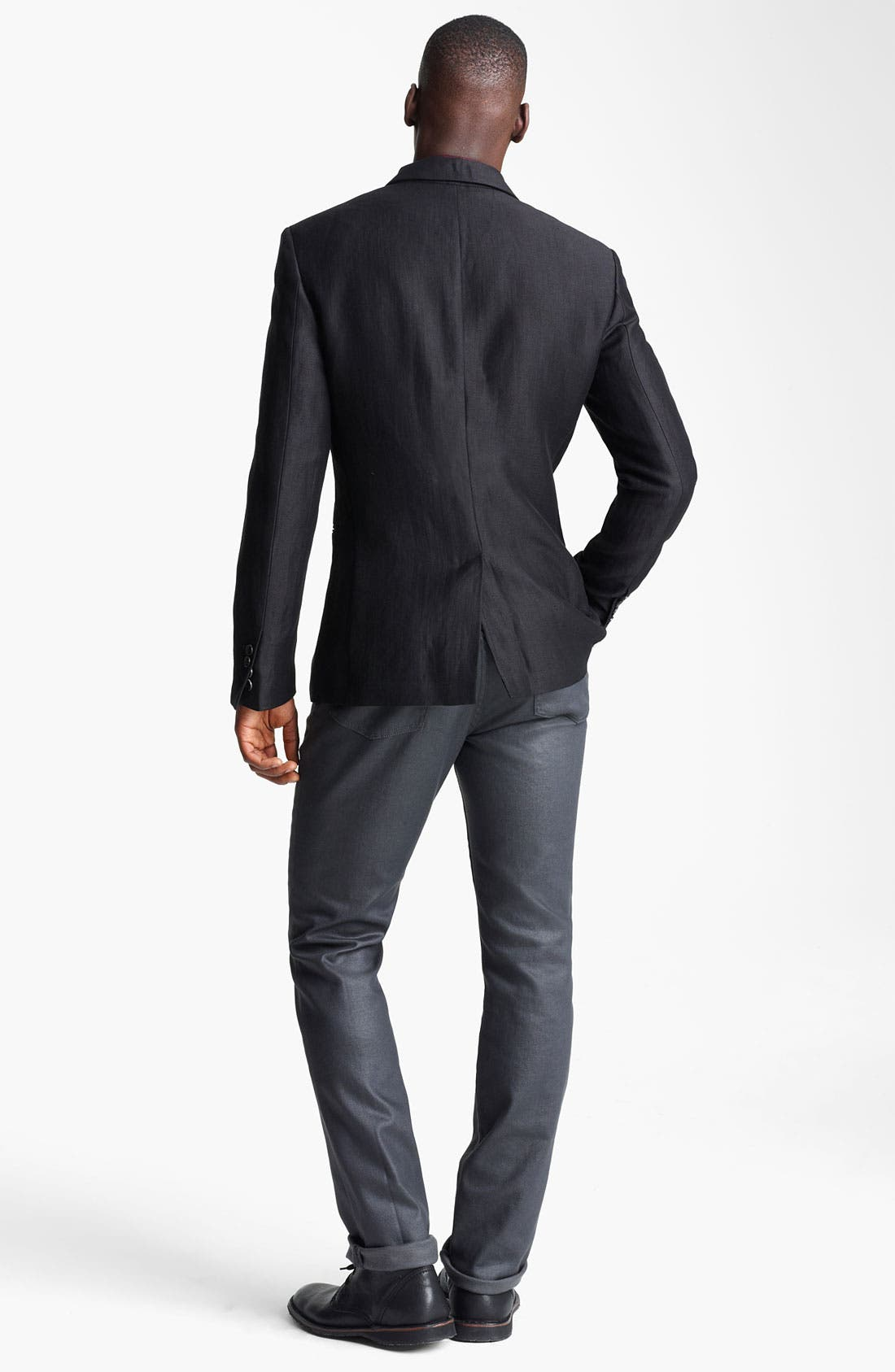 Alternate Image 5  - John Varvatos Collection Linen & Wool Blazer