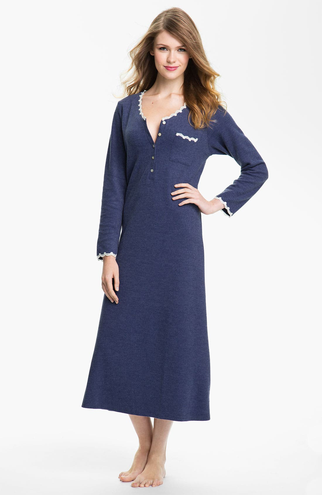 Alternate Image 1 Selected - Eileen West 'Evening Star' Thermal Nightgown