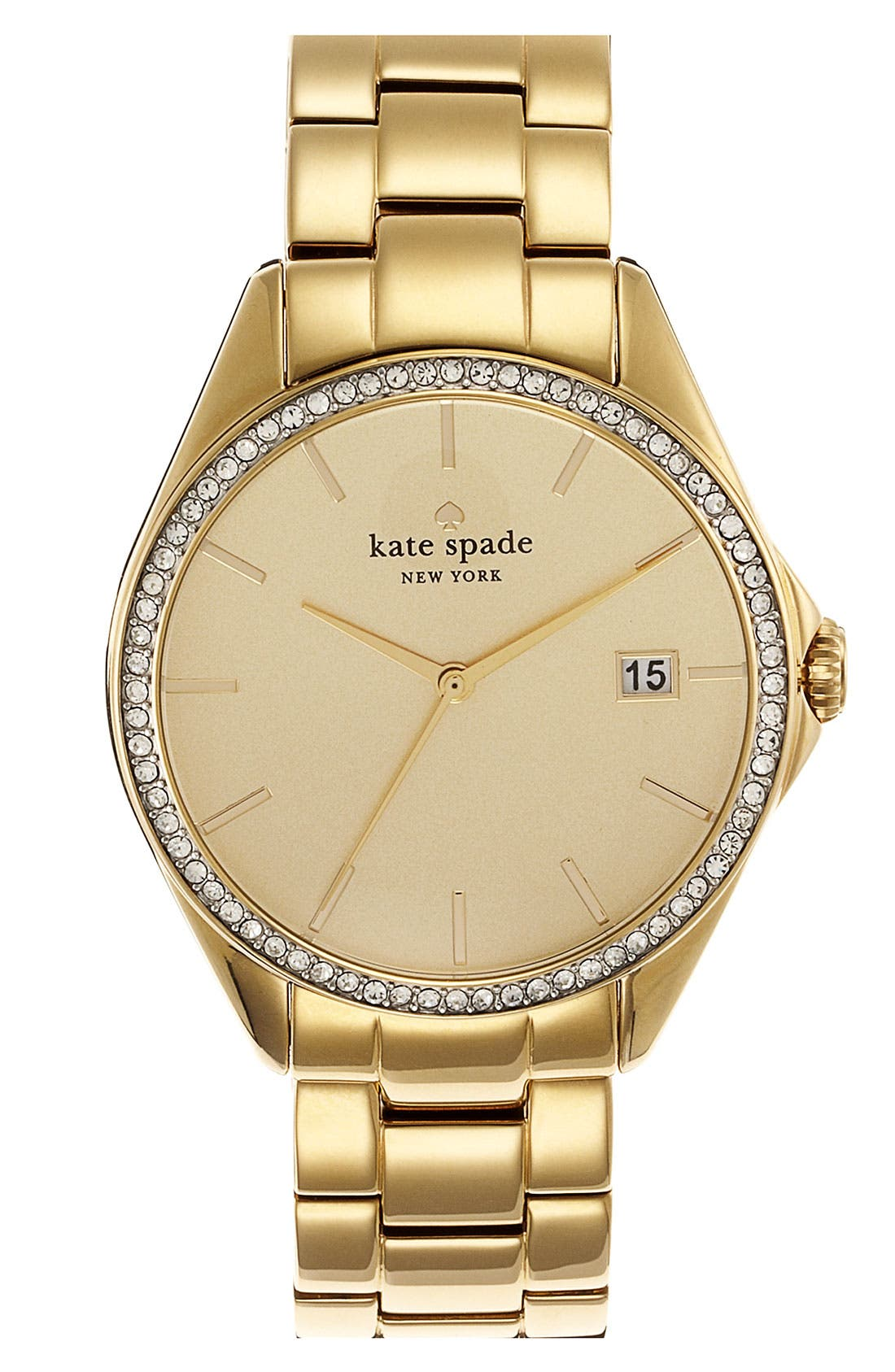 Main Image - kate spade new york 'seaport grand' crystal bracelet watch, 38mm