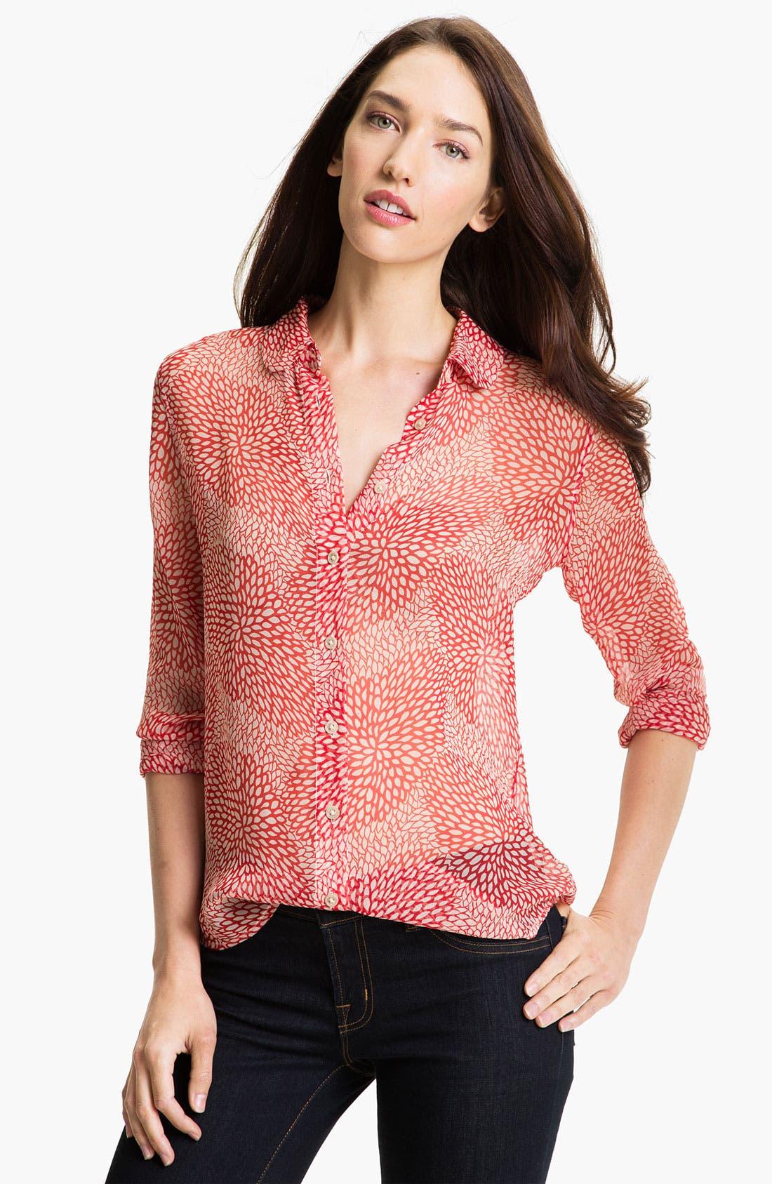 Alternate Image 1 Selected - Equipment 'Sophie' Sheer Silk Shirt