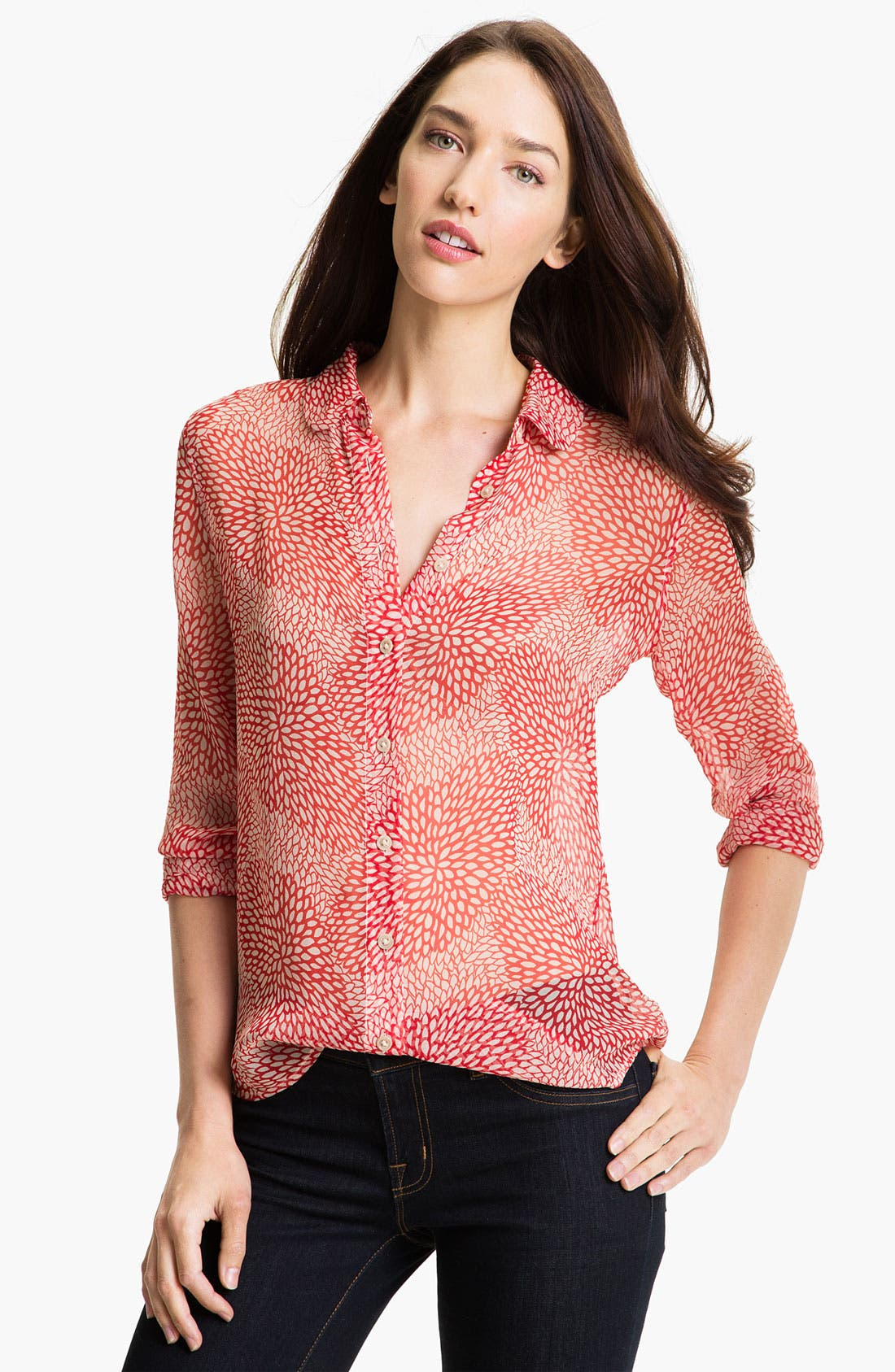 Main Image - Equipment 'Sophie' Sheer Silk Shirt