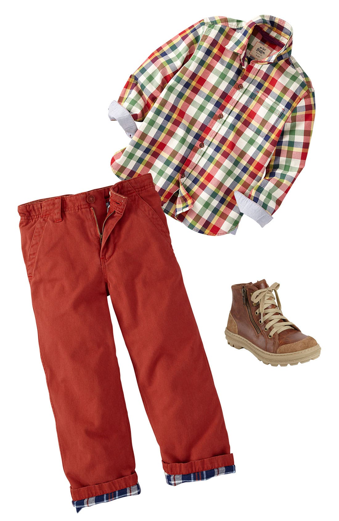 Alternate Image 1 Selected - Mini Boden Shirt & Chinos (Little Boys & Big Boys)