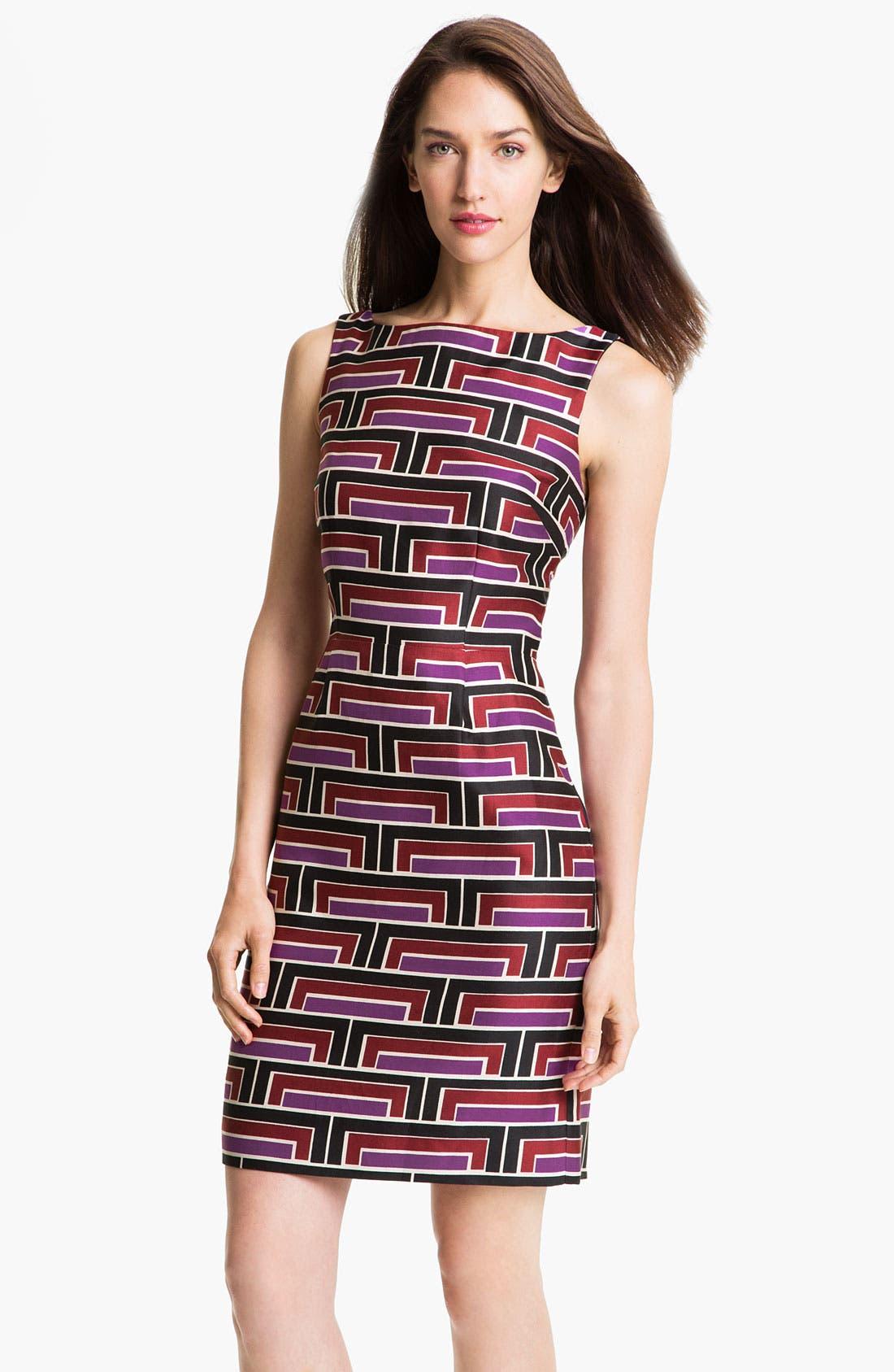 Alternate Image 1 Selected - kate spade new york 'purdy' cotton & silk sheath dress