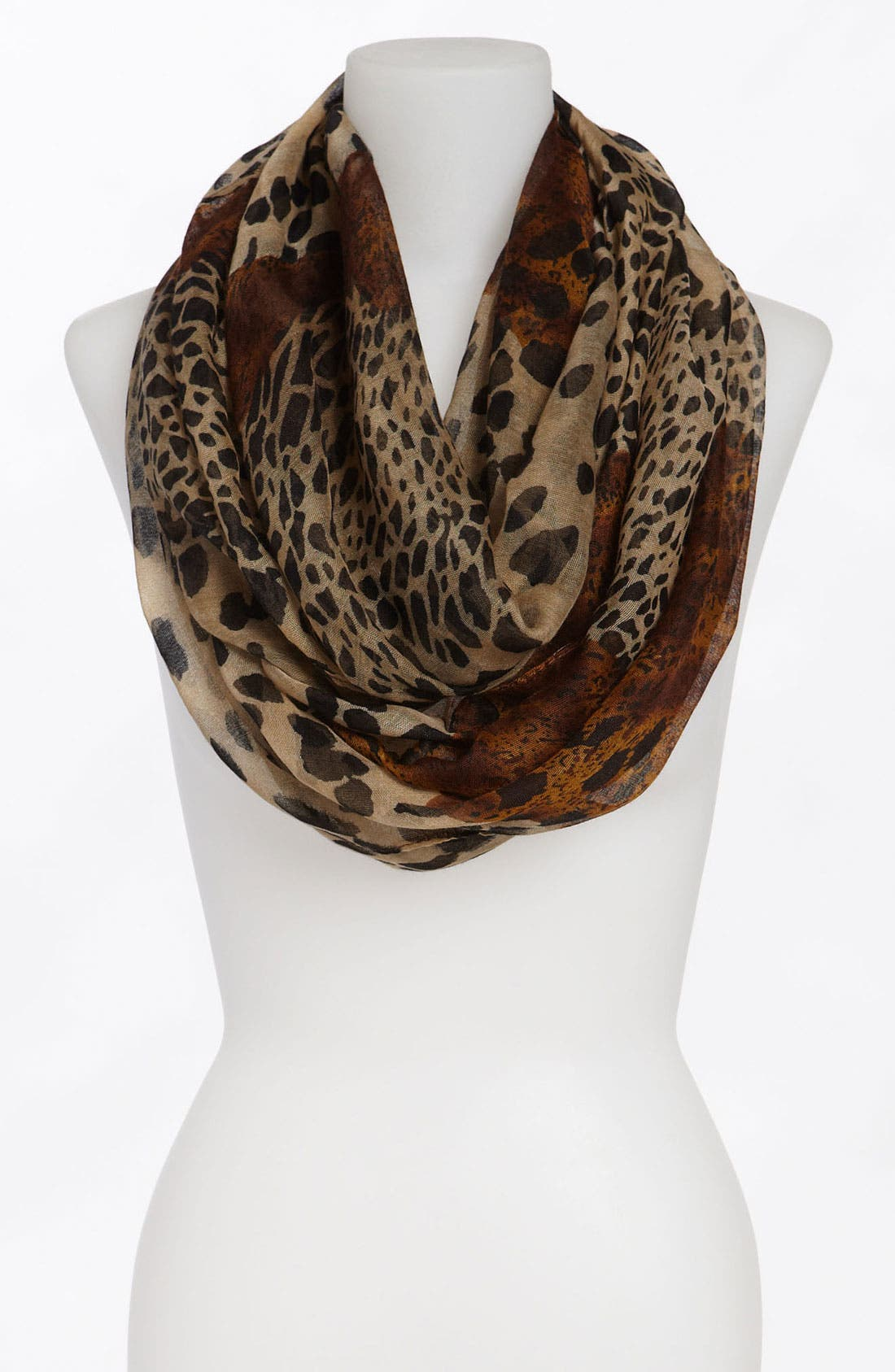 Alternate Image 1 Selected - David & Young Animal Print Infinity Scarf