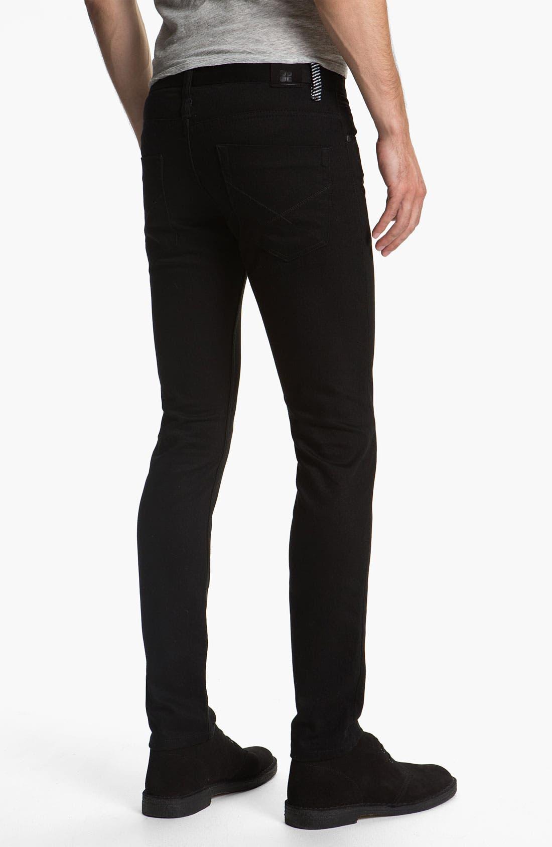 Main Image - Insight 'City Riot' Slim Straight Leg Jeans (Double Black Rinse)