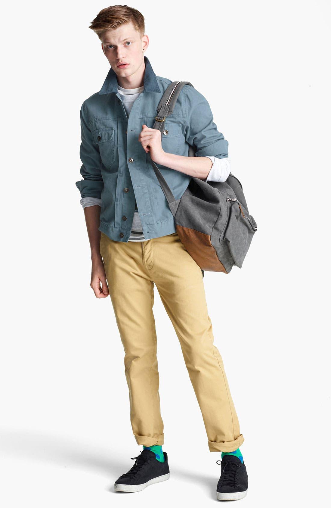 Alternate Image 4  - Topman Corduroy Collar Denim Jacket