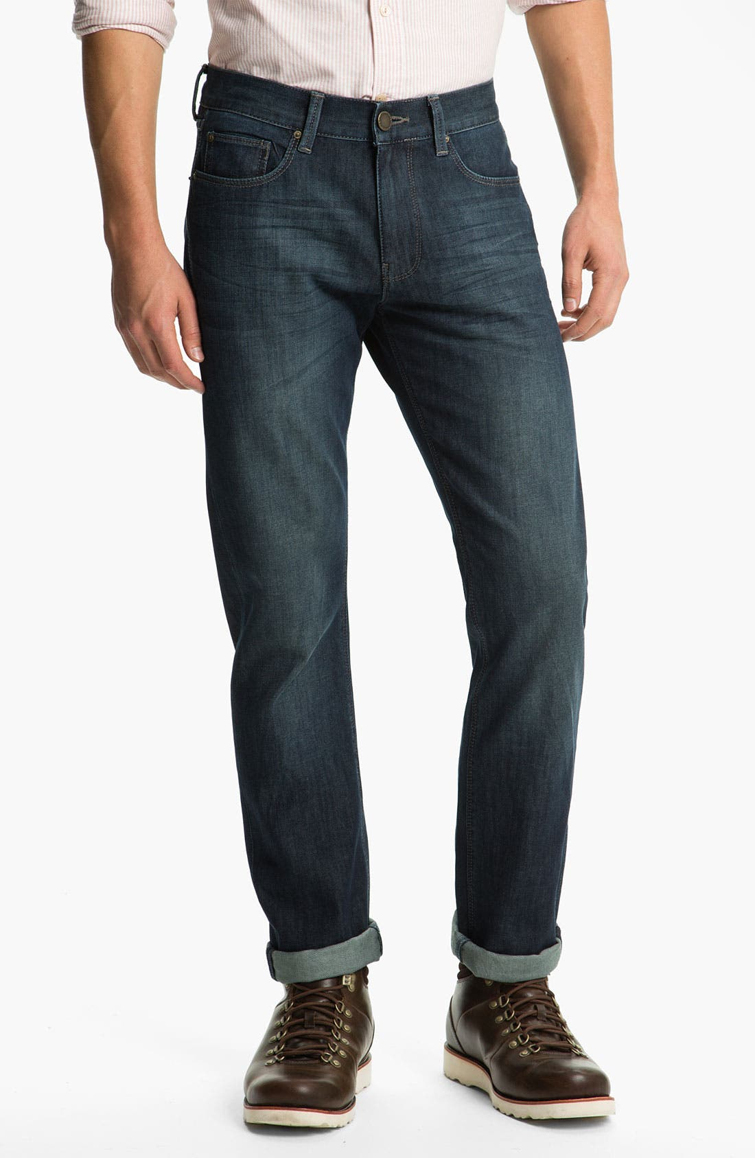 Alternate Image 1 Selected - DL1961 'Russell' Slim Straight Leg Jeans (Mustang)