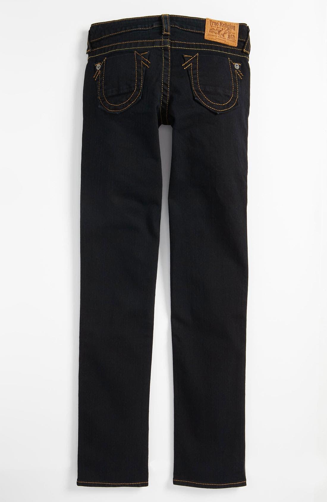 Alternate Image 1 Selected - True Religion Brand Jeans 'Stella' Skinny Jeans (Little Girls & Big Girls)