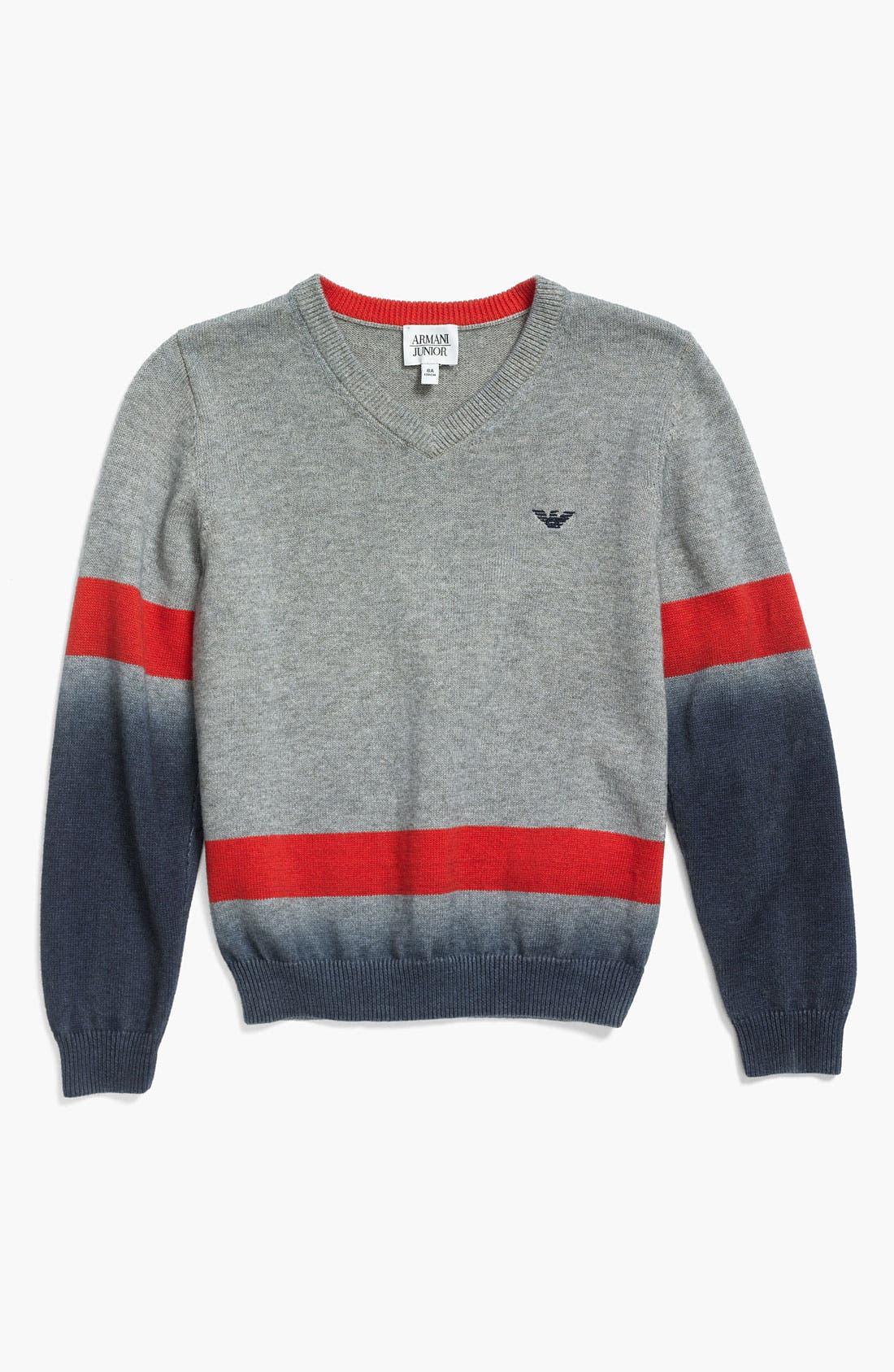 Alternate Image 1 Selected - Armani Junior V-Neck Sweater (Big Boys)
