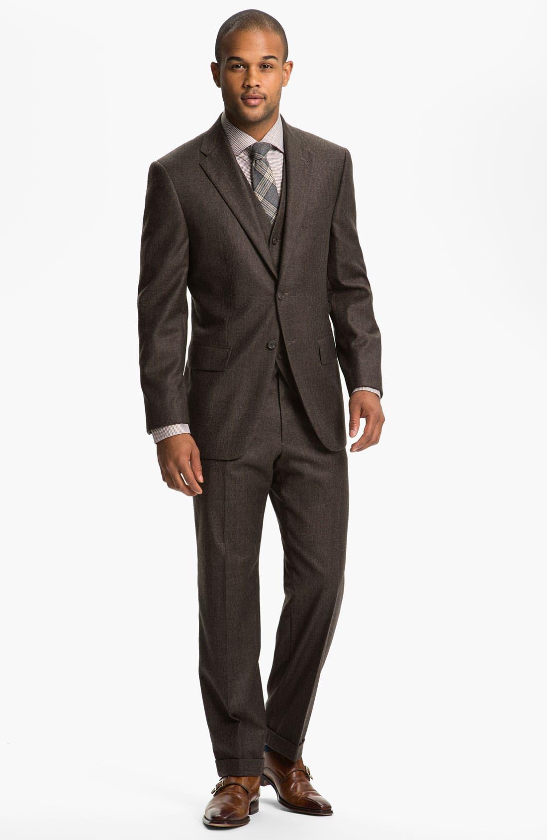 Alternate Image 2  - Joseph Abboud Three Piece Suit