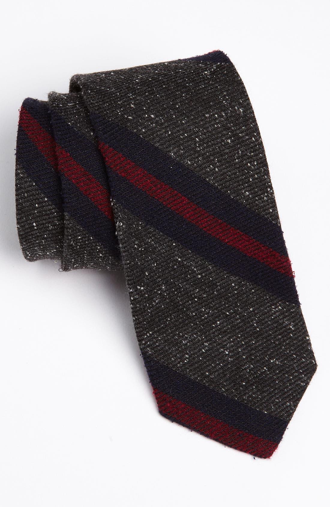 Woven Tie,                         Main,                         color, Grey/ Red