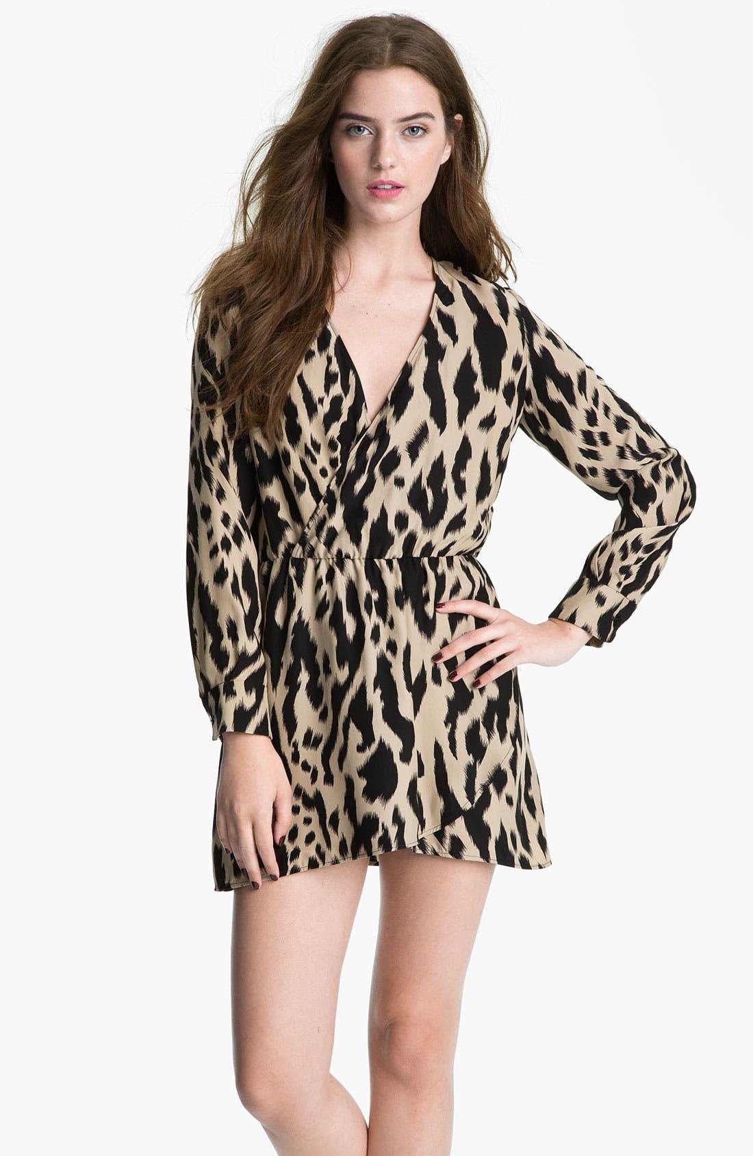 Alternate Image 1 Selected - Parker Faux Wrap Print Silk Dress