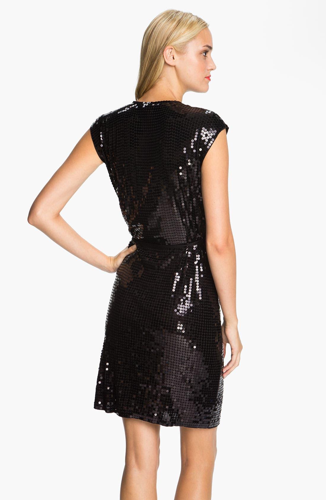 Alternate Image 2  - MICHAEL Michael Kors Sequin Wrap Dress