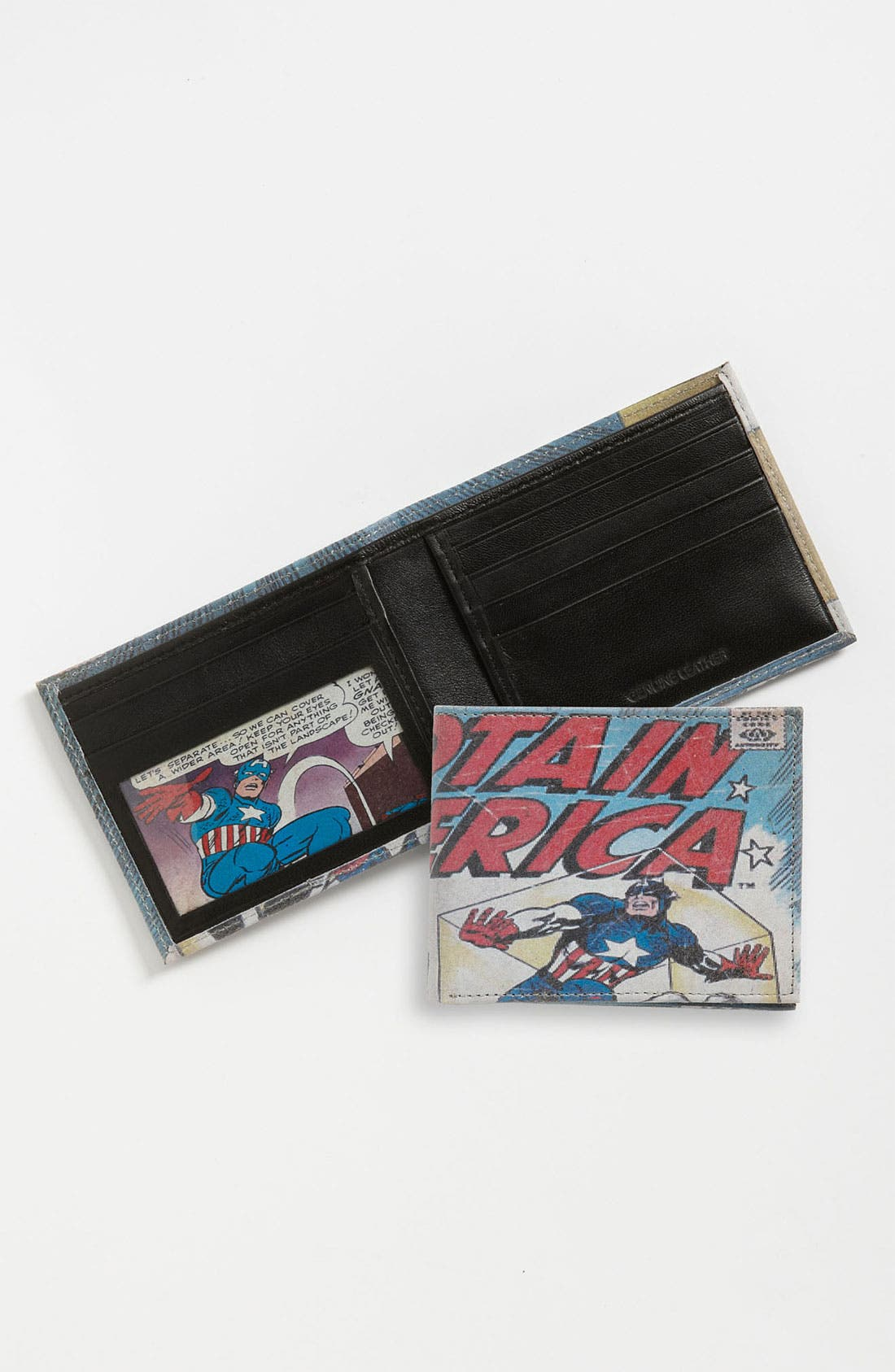 Main Image - Marvel 'Captain America™' Printed Leather Wallet