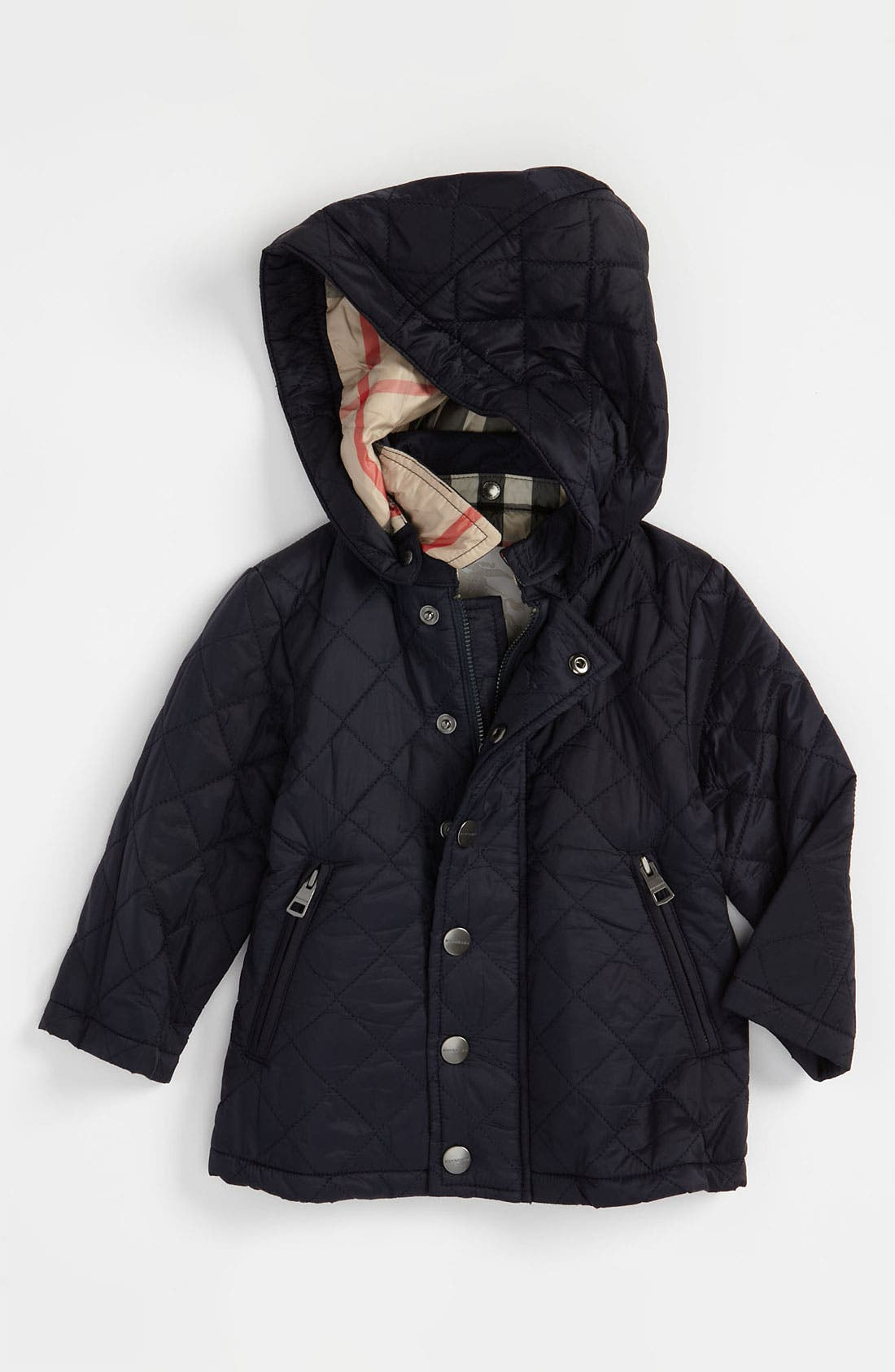 Main Image - Burberry Quilted Jacket (Baby)