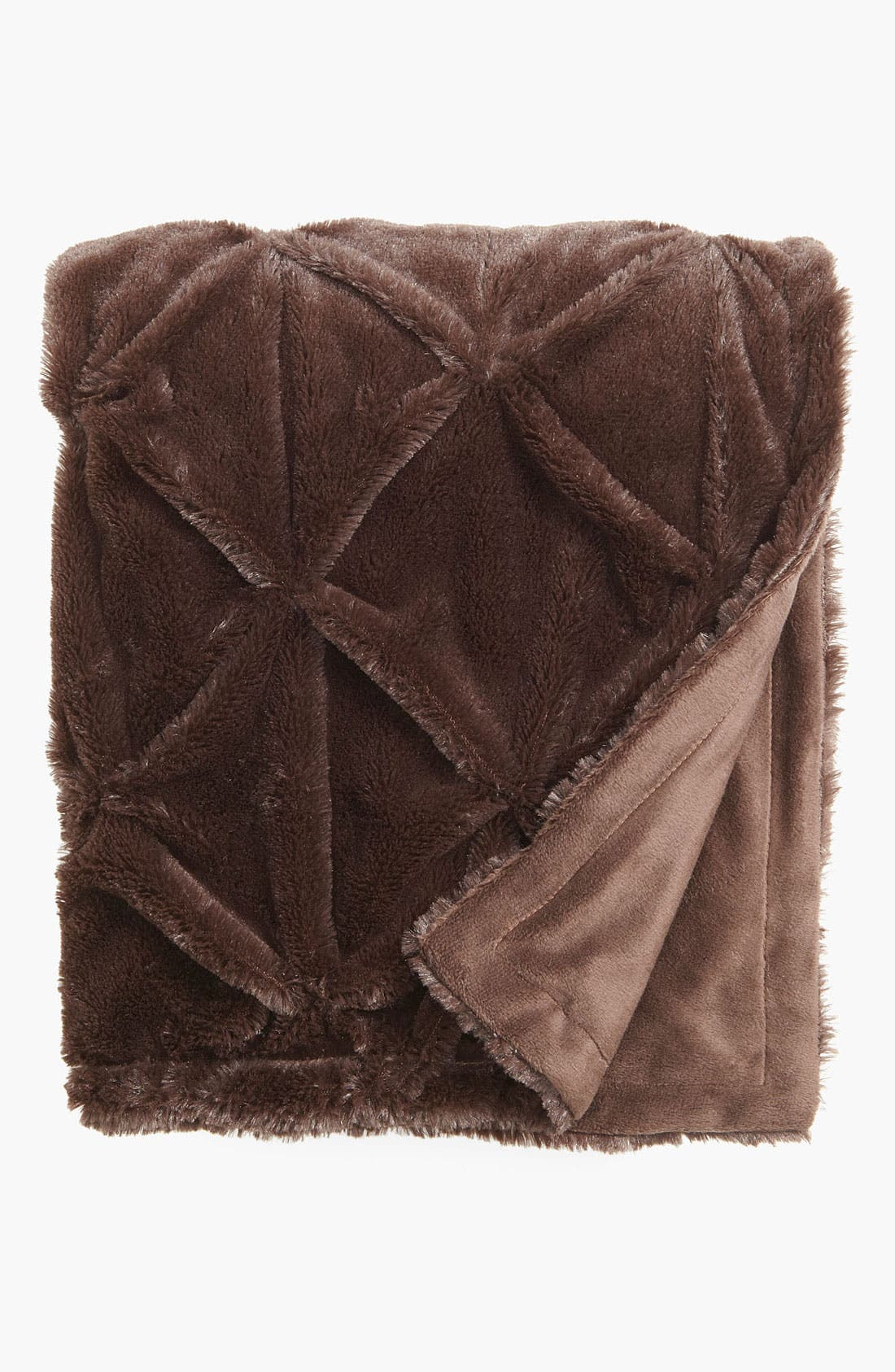 Alternate Image 1 Selected - Kennebunk Home 'Elise' Ruched Plush Throw