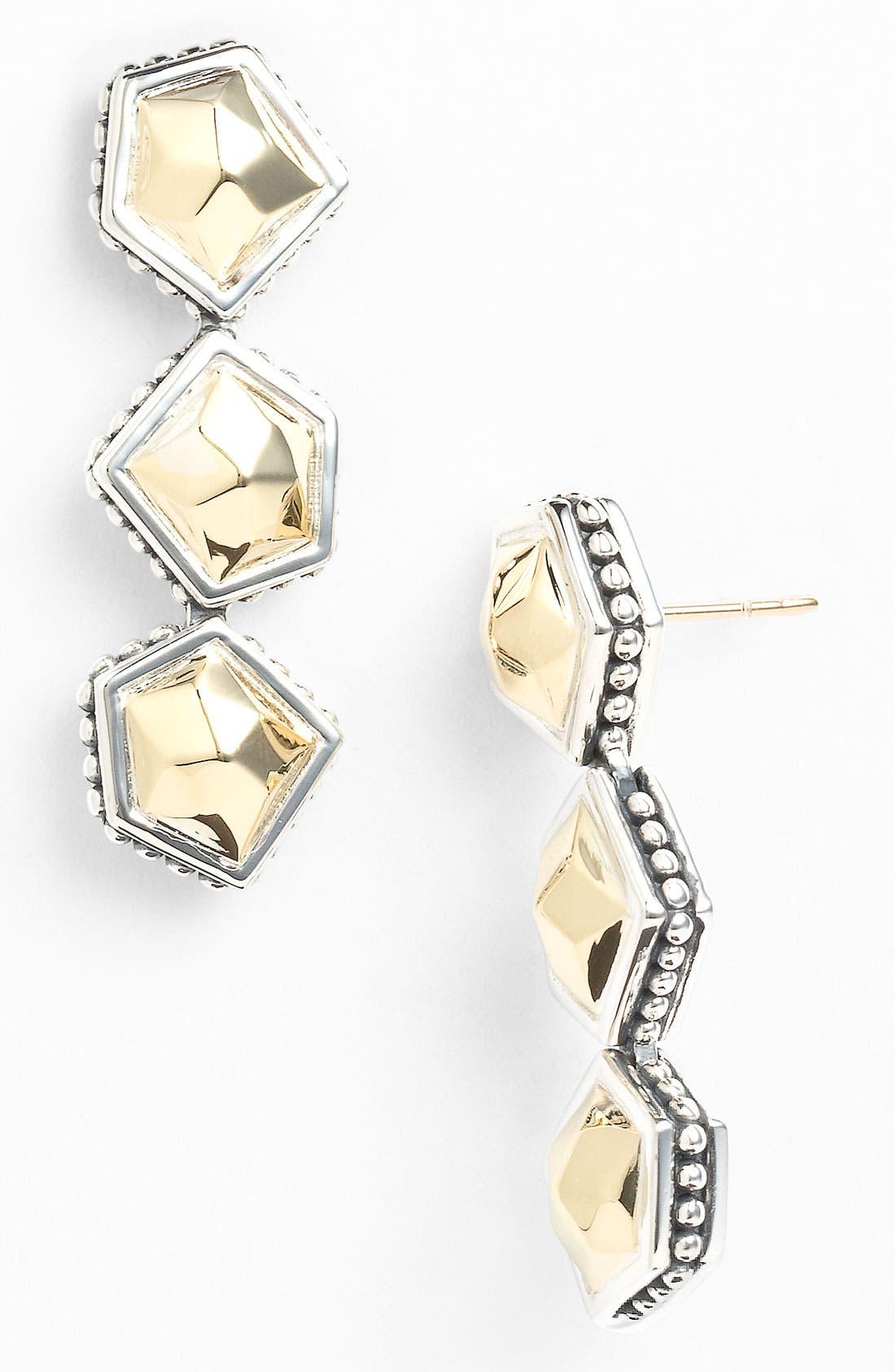 Alternate Image 1 Selected - LAGOS 'Rocks' Triple Angled Drop Earrings