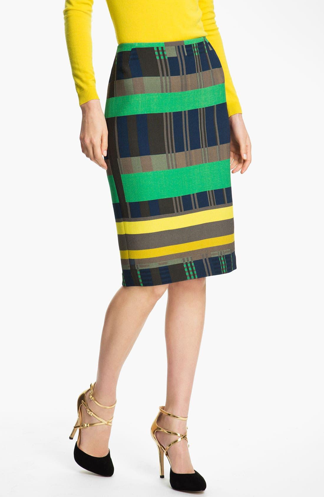 Alternate Image 1 Selected - Lafayette 148 New York Cubism Print Skirt