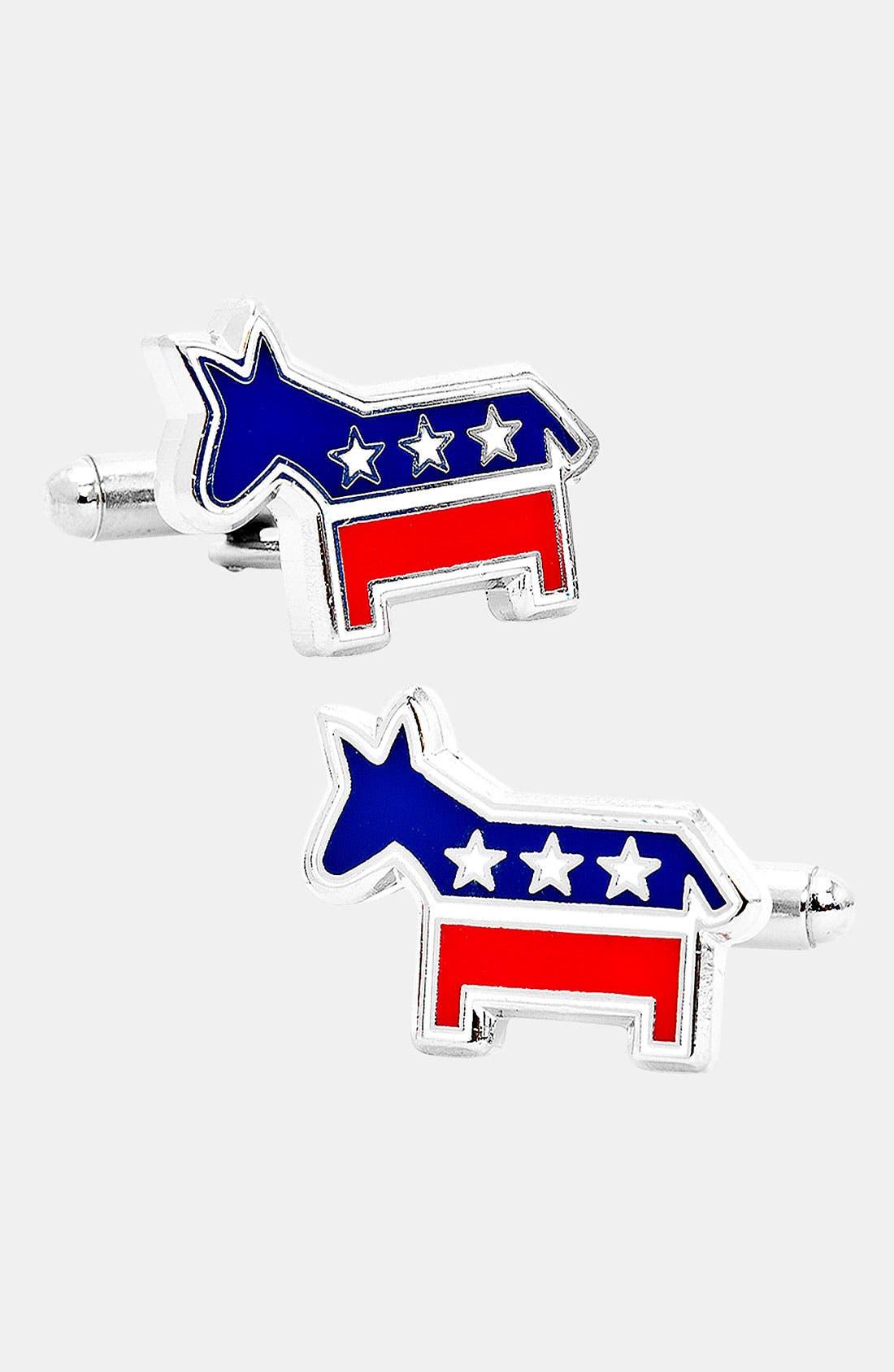 Main Image - Cufflinks, Inc. 'Democratic Donkey' Cuff Links