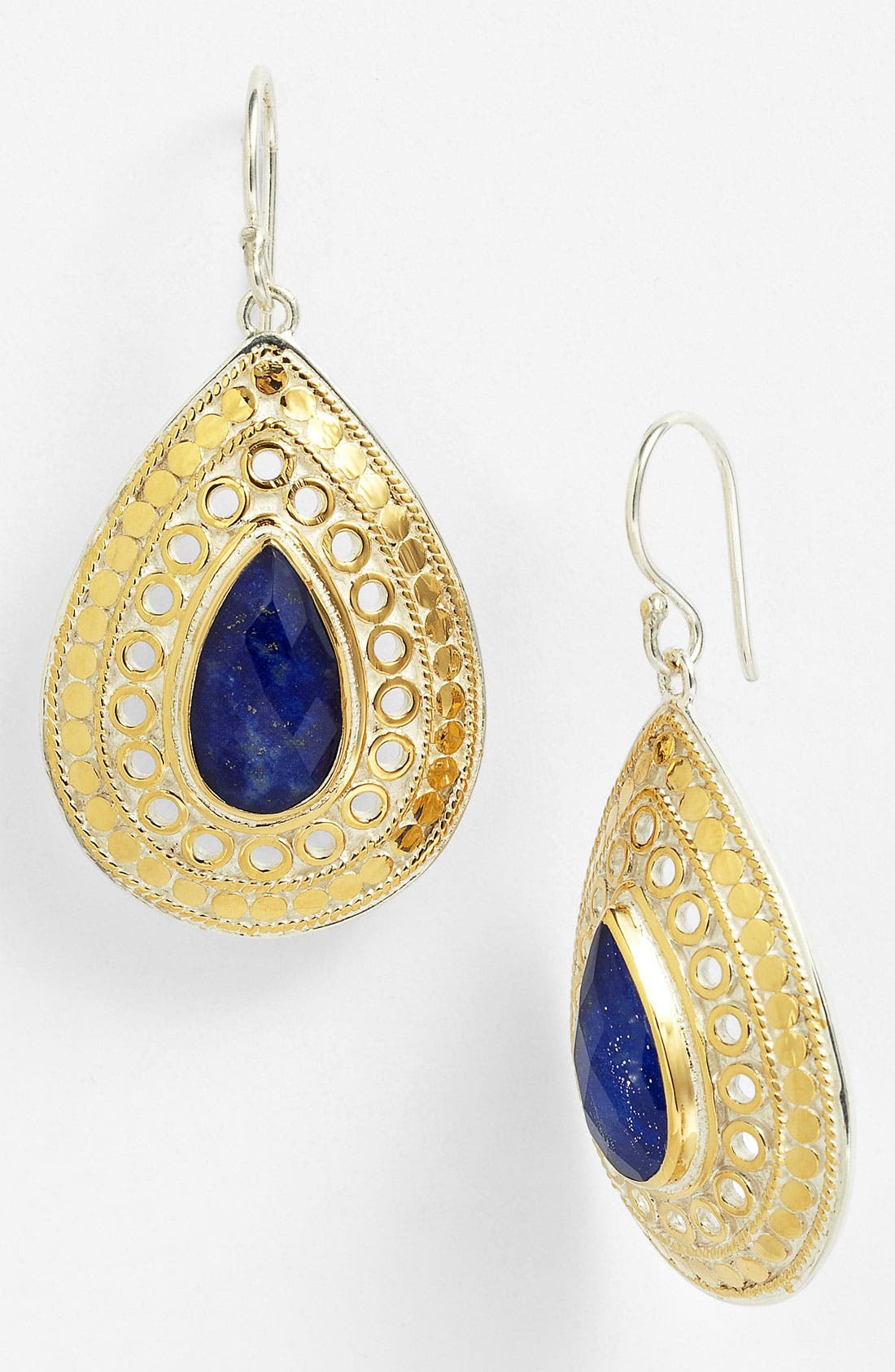 Alternate Image 1 Selected - Anna Back 'Gili' Wire Rimmed Drop Earrings