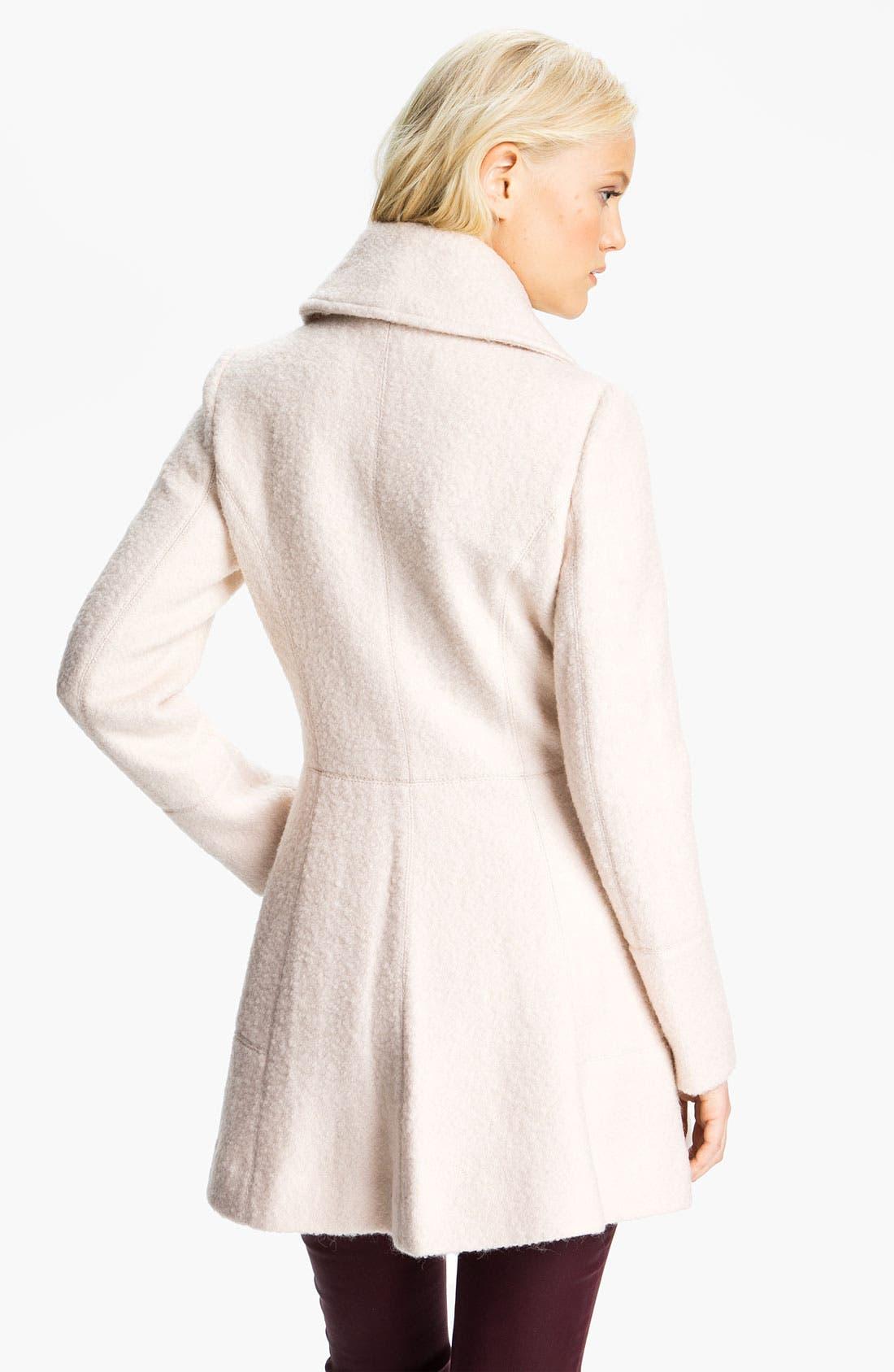 Alternate Image 2  - GUESS Asymmetrical Collar Bouclé Coat (Online Exclusive)