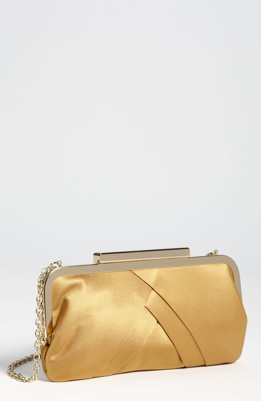 Main Image - Glint Pleated Frame Clutch