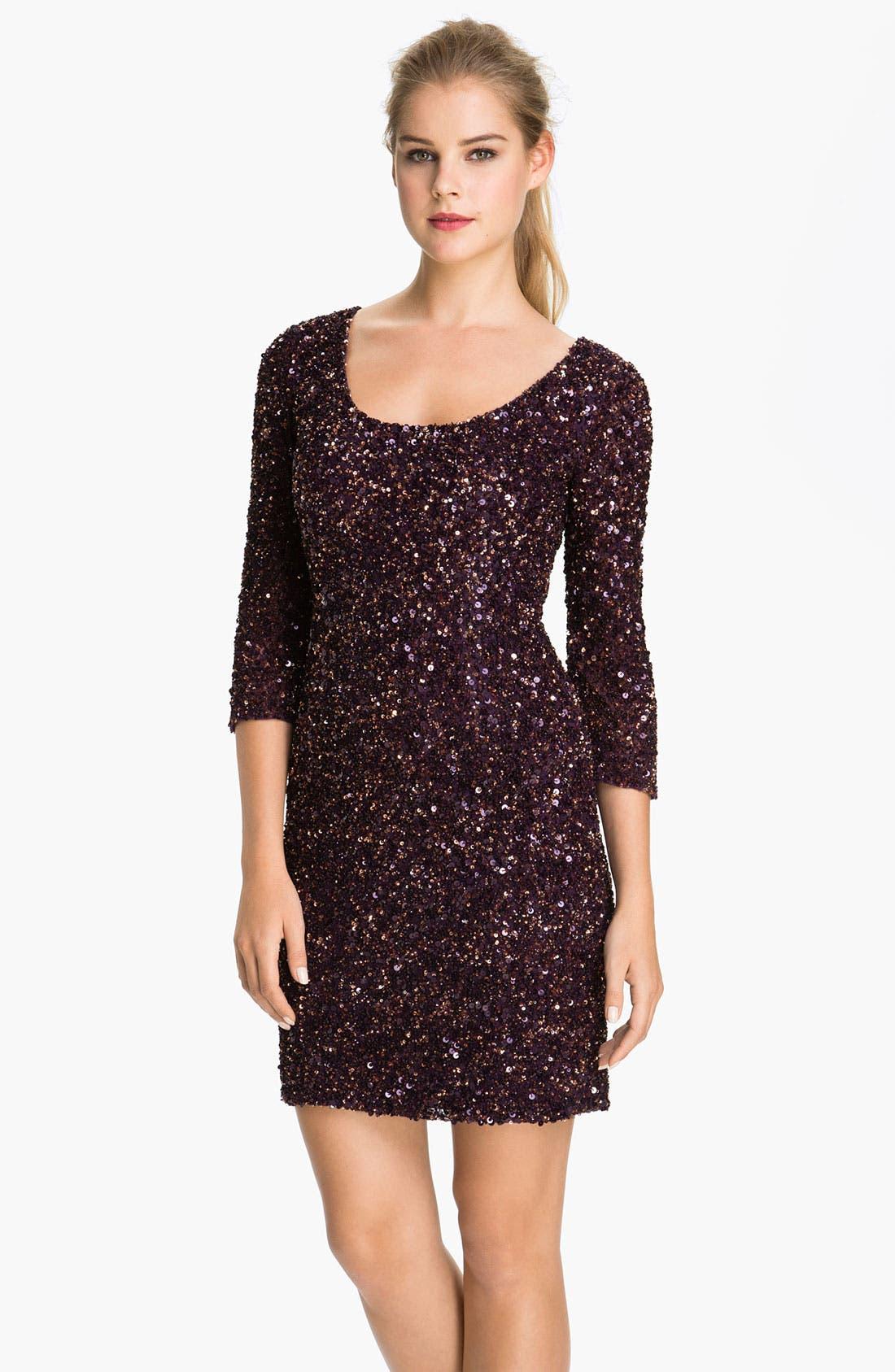 Main Image - Pisarro Nights Scoop Neck Sequin Sheath Dress