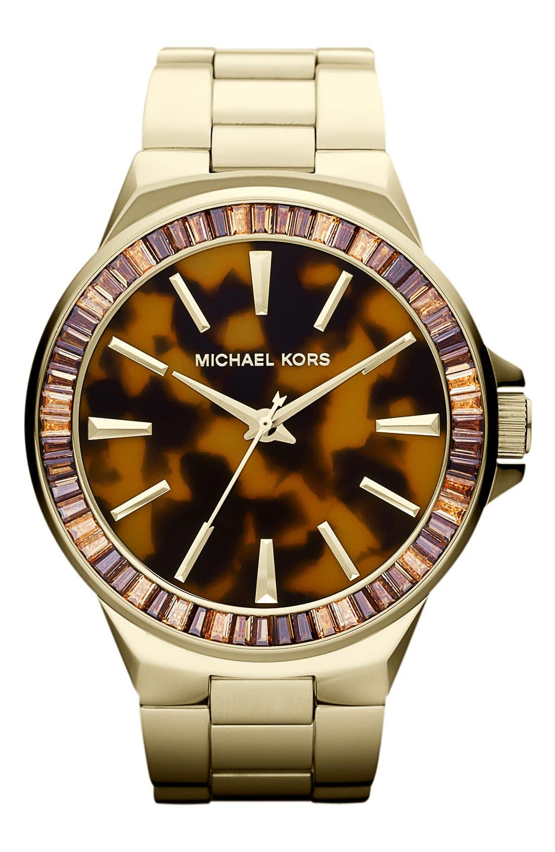 Alternate Image 1 Selected - Michael Kors 'Gramercy' Round Bracelet Watch, 45mm