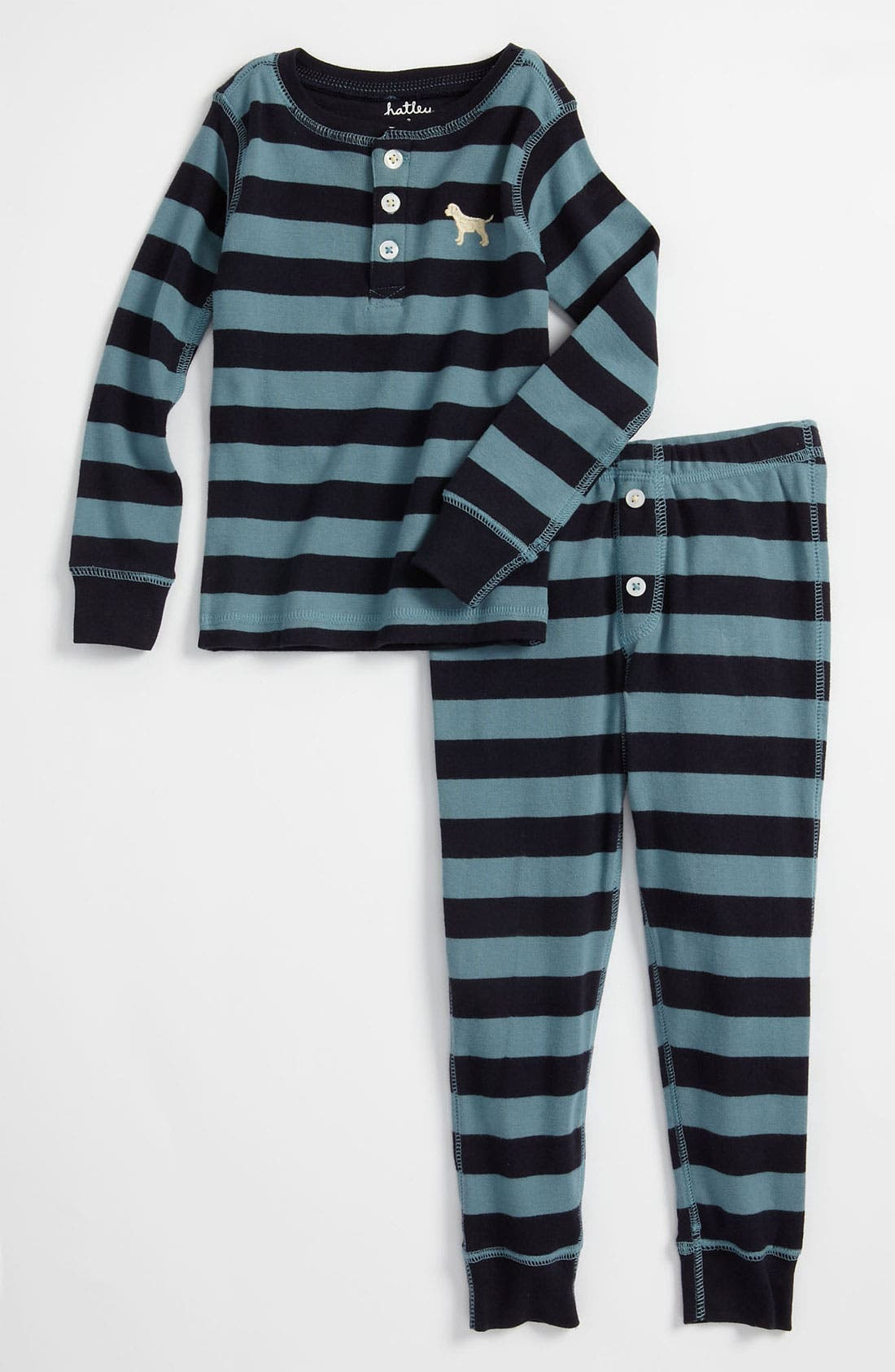 Alternate Image 1 Selected - Hatley Fitted Two Piece Pajamas (Toddler)