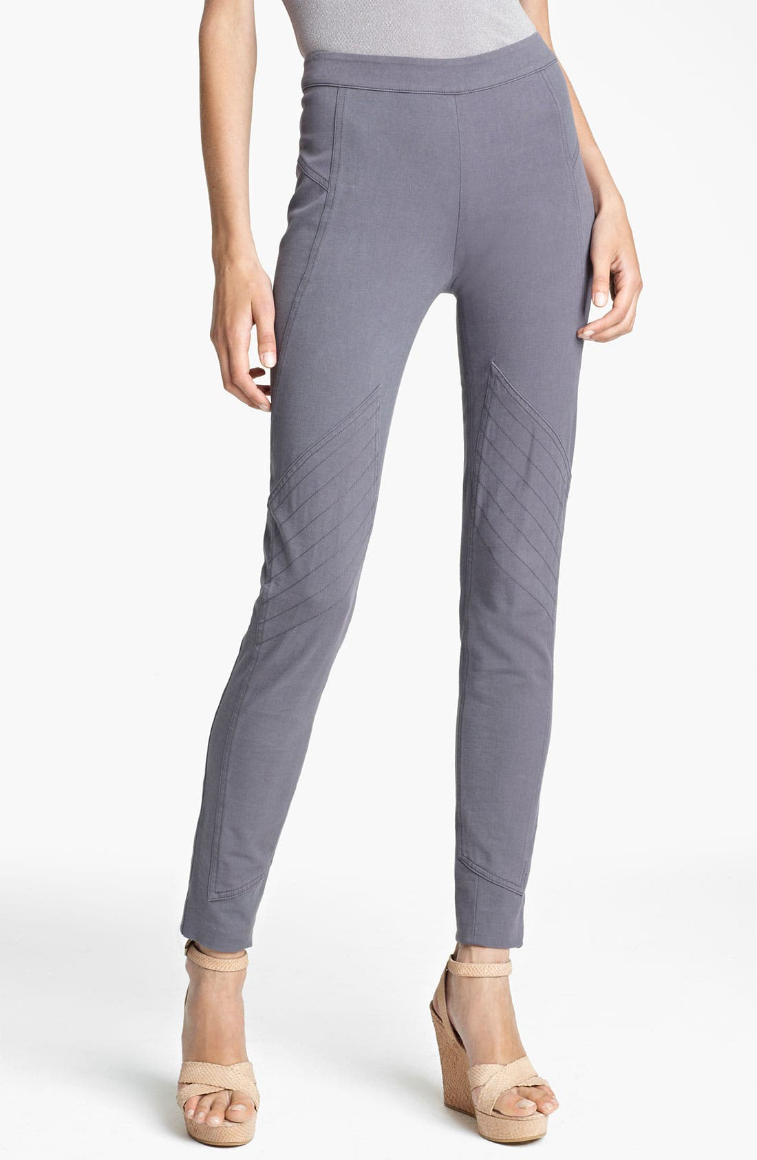 Main Image - Donna Karan Collection Skinny Sueded Stretch Cotton Pants