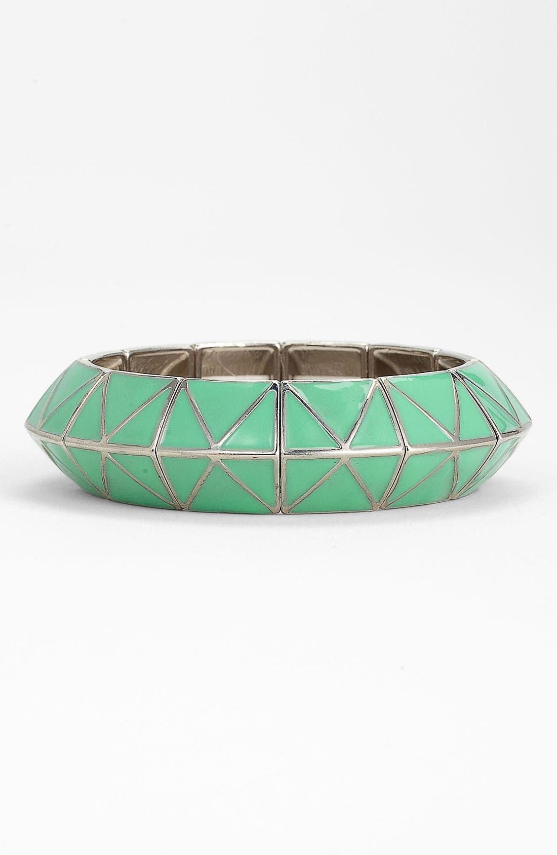 Alternate Image 1 Selected - Carole Enameled Pyramid Stretch Bracelet