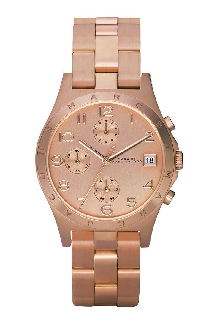 marc jacobs 39 henry 39 chronograph bracelet watch 37mm. Black Bedroom Furniture Sets. Home Design Ideas
