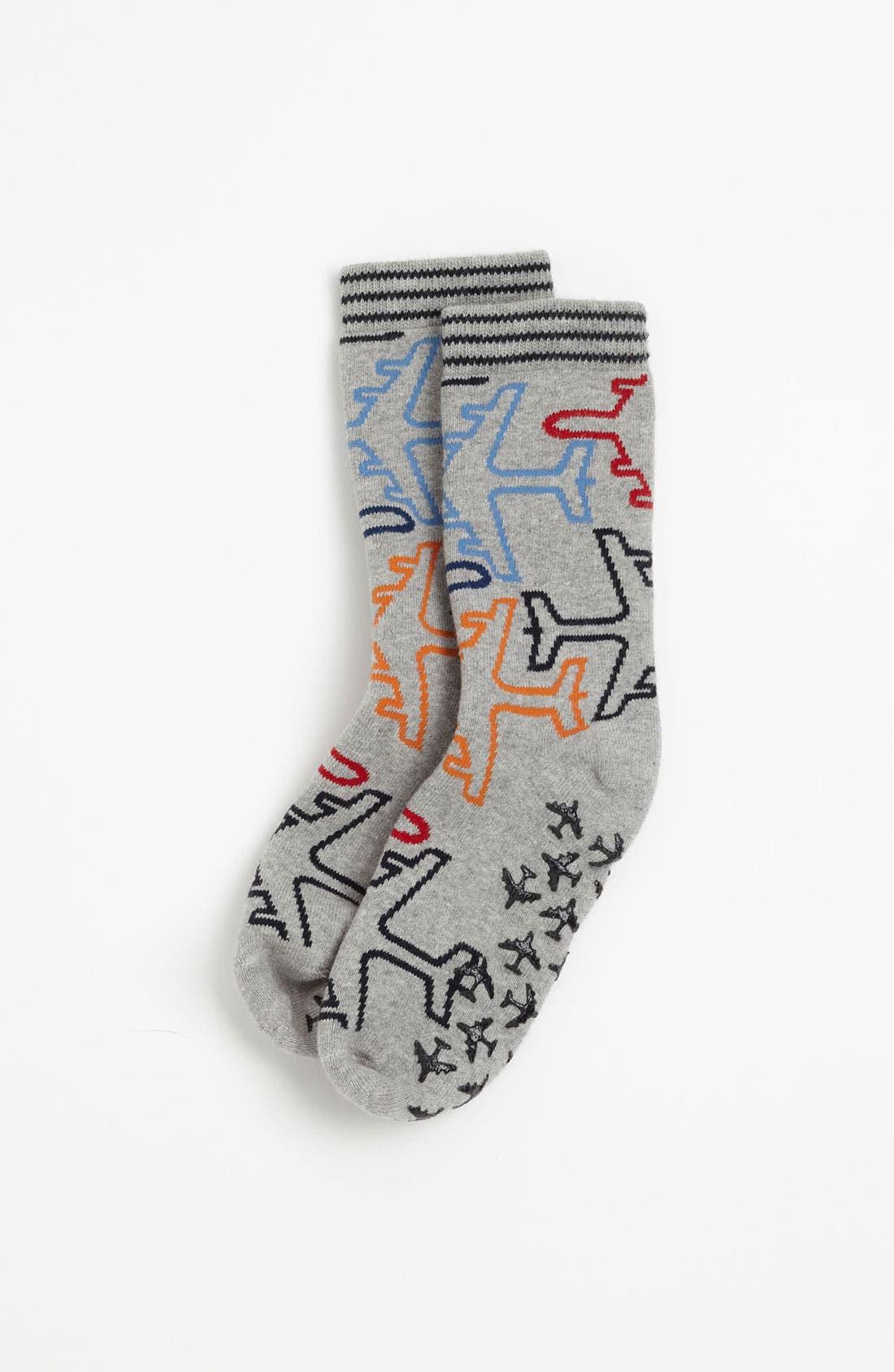 Alternate Image 1 Selected - Nordstrom Slipper Socks (Toddler & Little Boys)