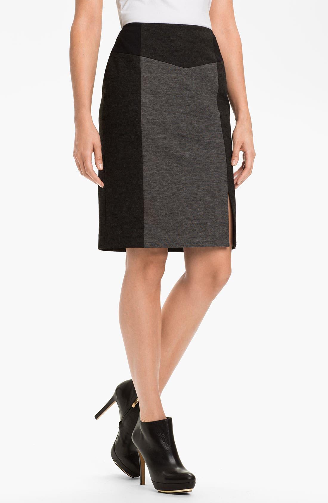 Alternate Image 1 Selected - Halogen® Colorblock Ponte Skirt