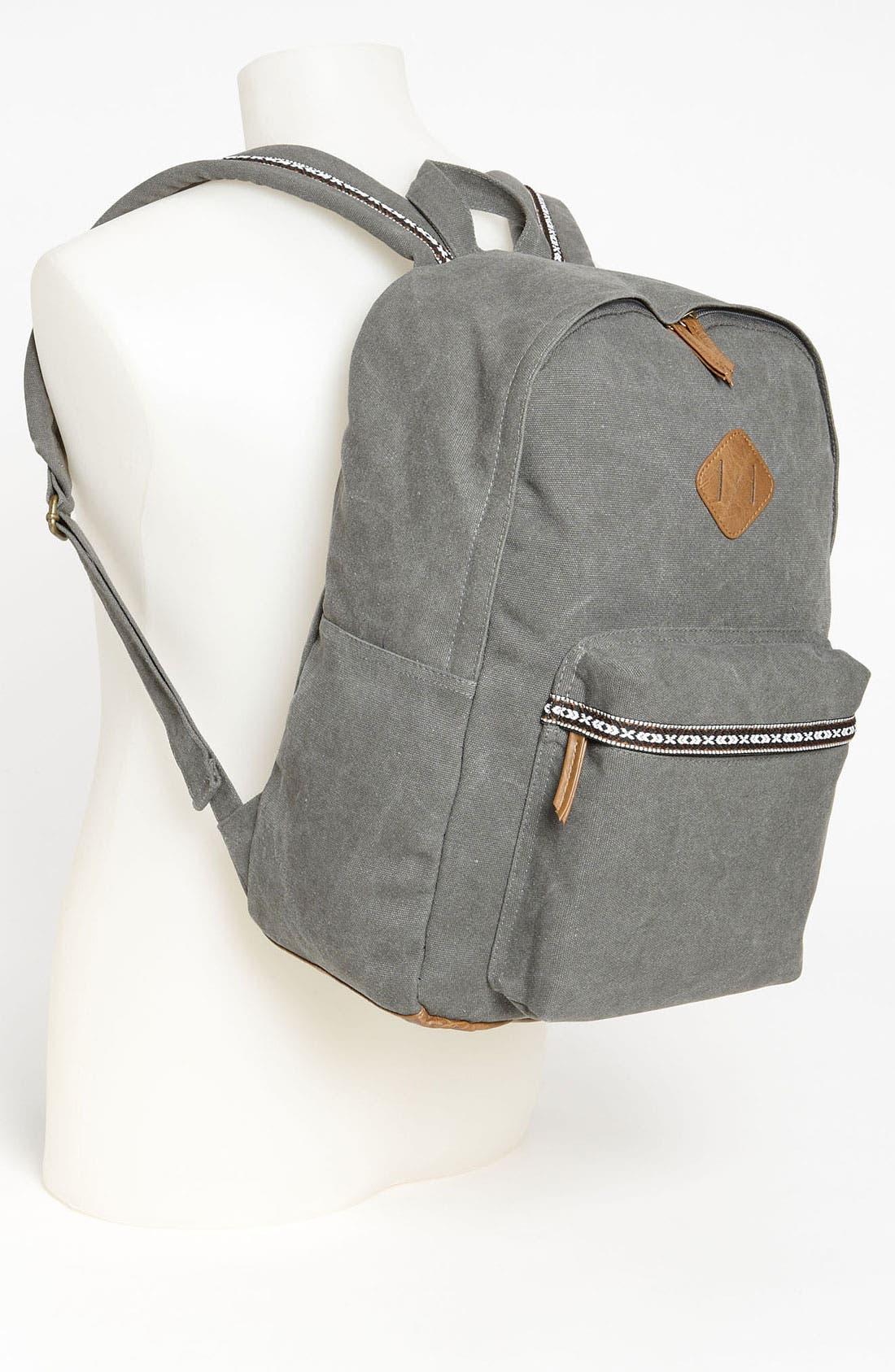 Alternate Image 4  - Topman Washed Canvas Backpack
