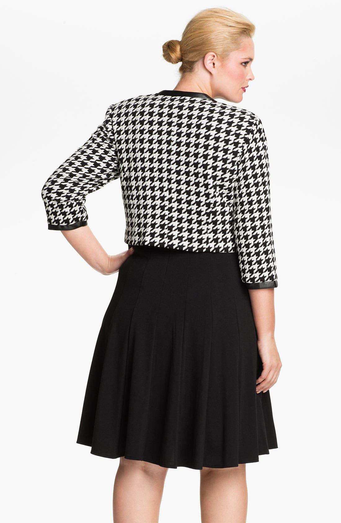 Alternate Image 2  - Eliza J Pleated Dress & Bolero Jacket (Plus Size)