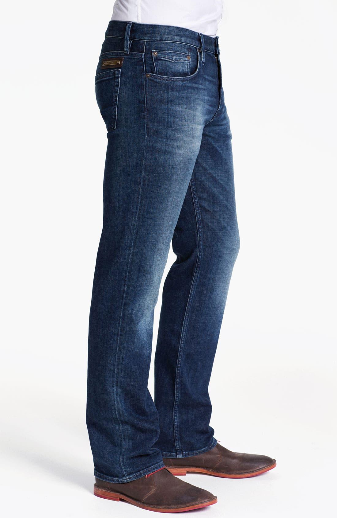 Alternate Image 3  - Burberry Brit 'Cavendish' Straight Leg Jeans (Denim Blue)