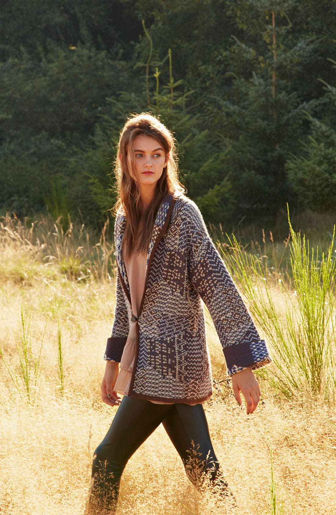 Alternate Image 4  - Rubbish® Patchwork Knit Cardigan (Juniors)