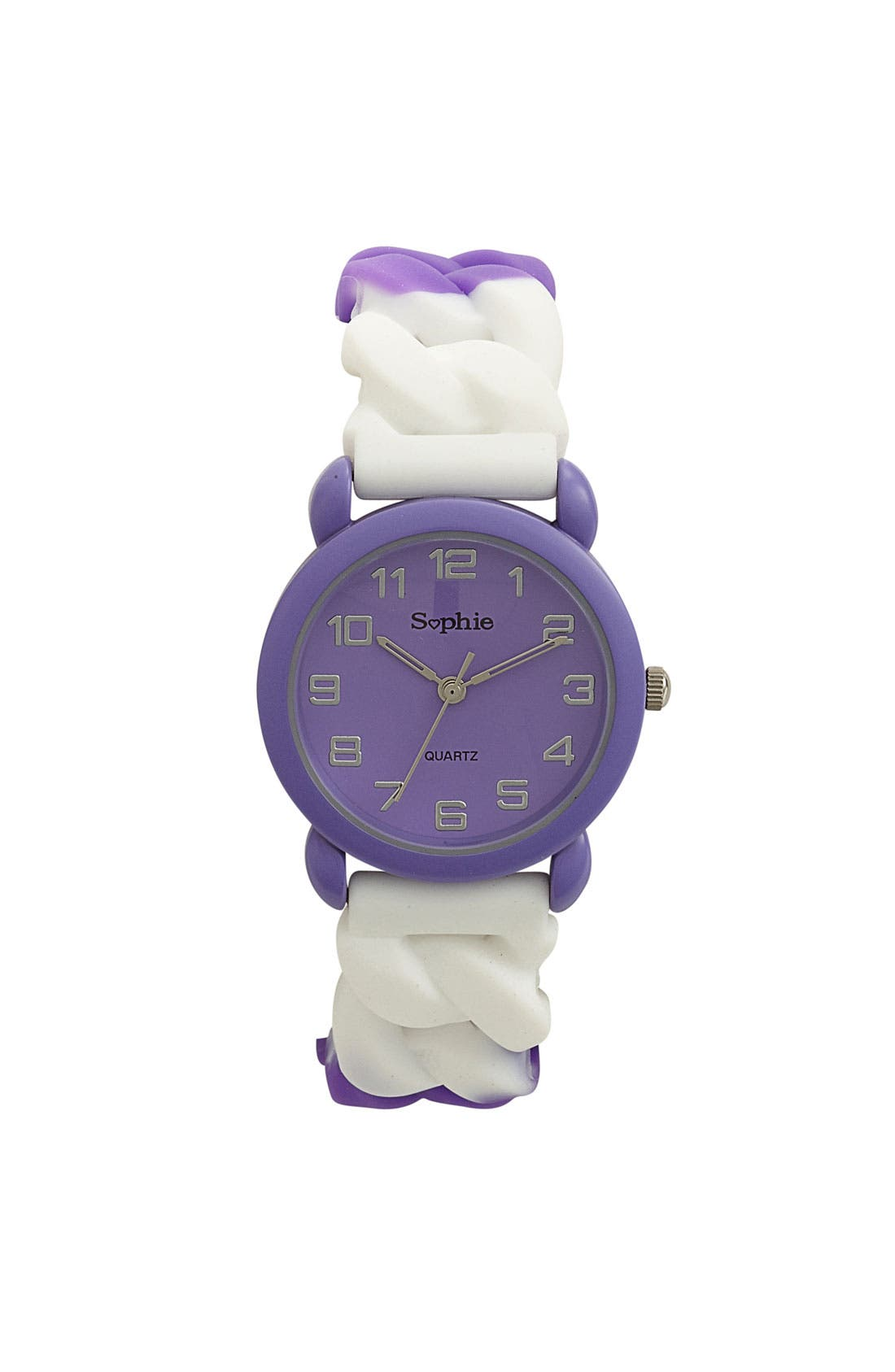 Main Image - Titanium Rubber Stretch Watch, 34mm (Girls)
