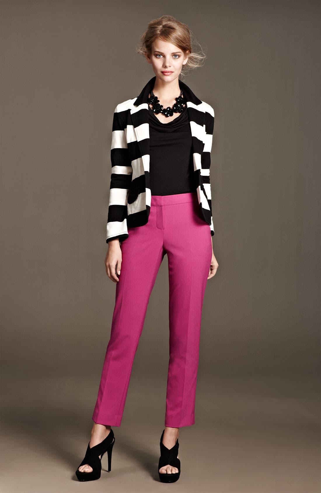 Alternate Image 4  - Caslon® Stripe Knit Blazer