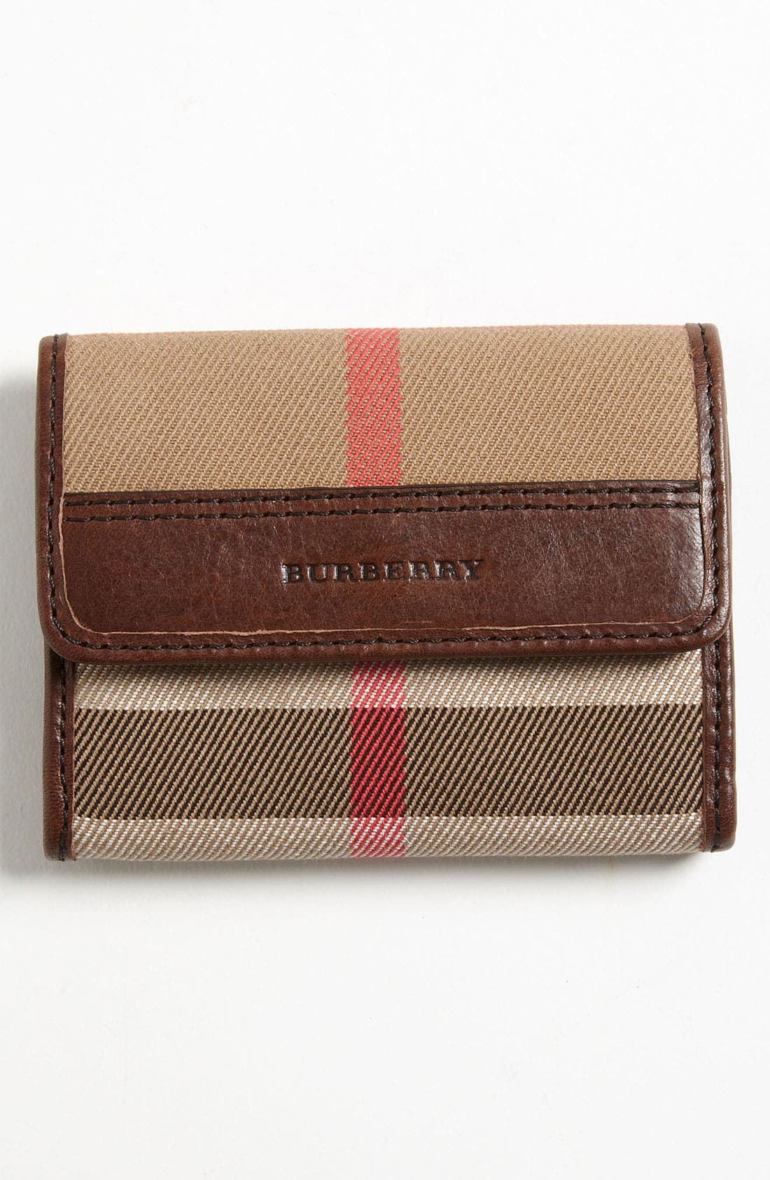 Alternate Image 1 Selected - Burberry Check Card Case