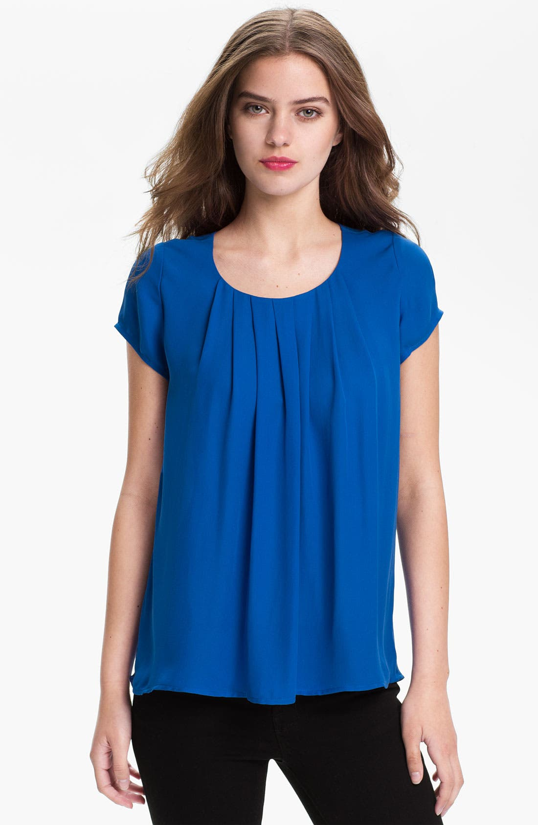 Alternate Image 1 Selected - Joie 'Meera' Pleat Neck Silk Top