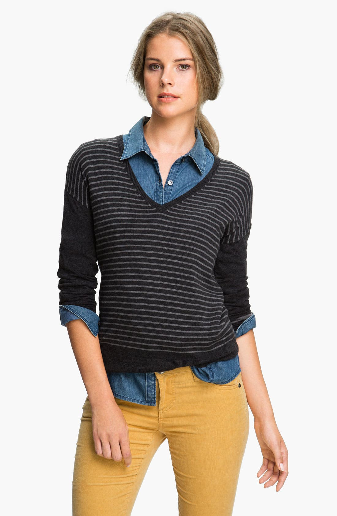 Alternate Image 1 Selected - Caslon® V-Neck Sweater