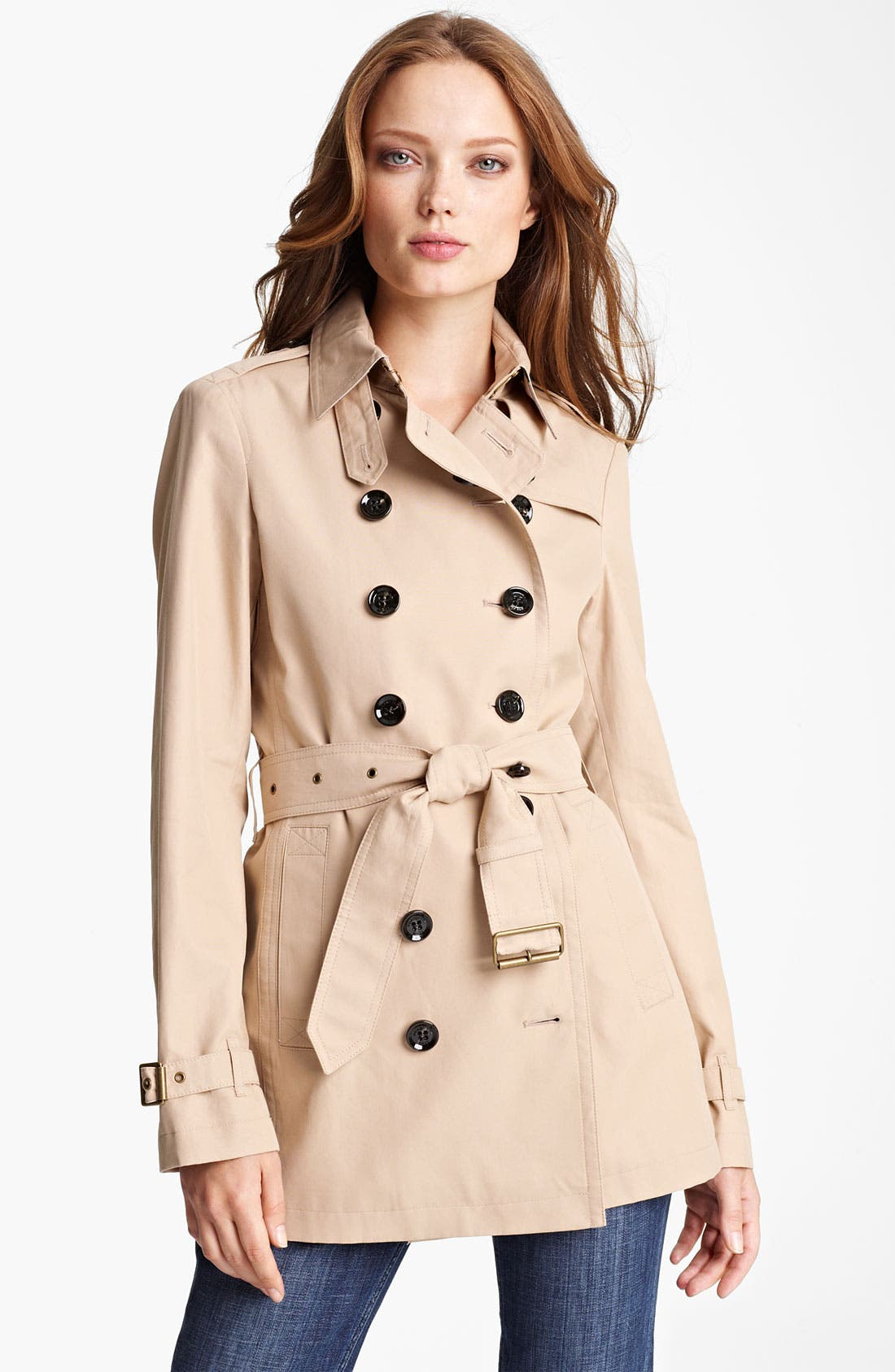 'Crombridge' Double Breasted Trench,                         Main,                         color, New Chino