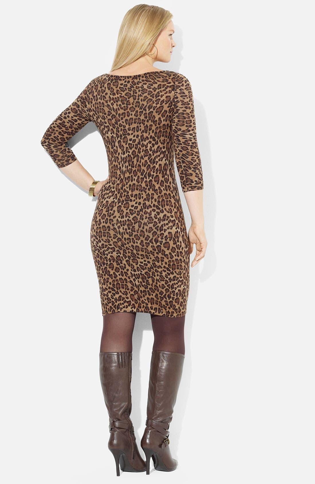 Alternate Image 2  - Lauren Ralph Lauren 'Vine' Sweater Dress (Plus)