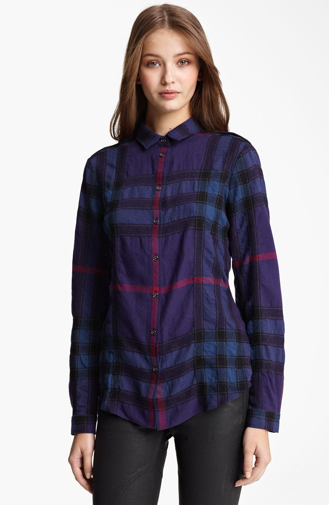 Alternate Image 1 Selected - Burberry Brit Check Print Flannel Top
