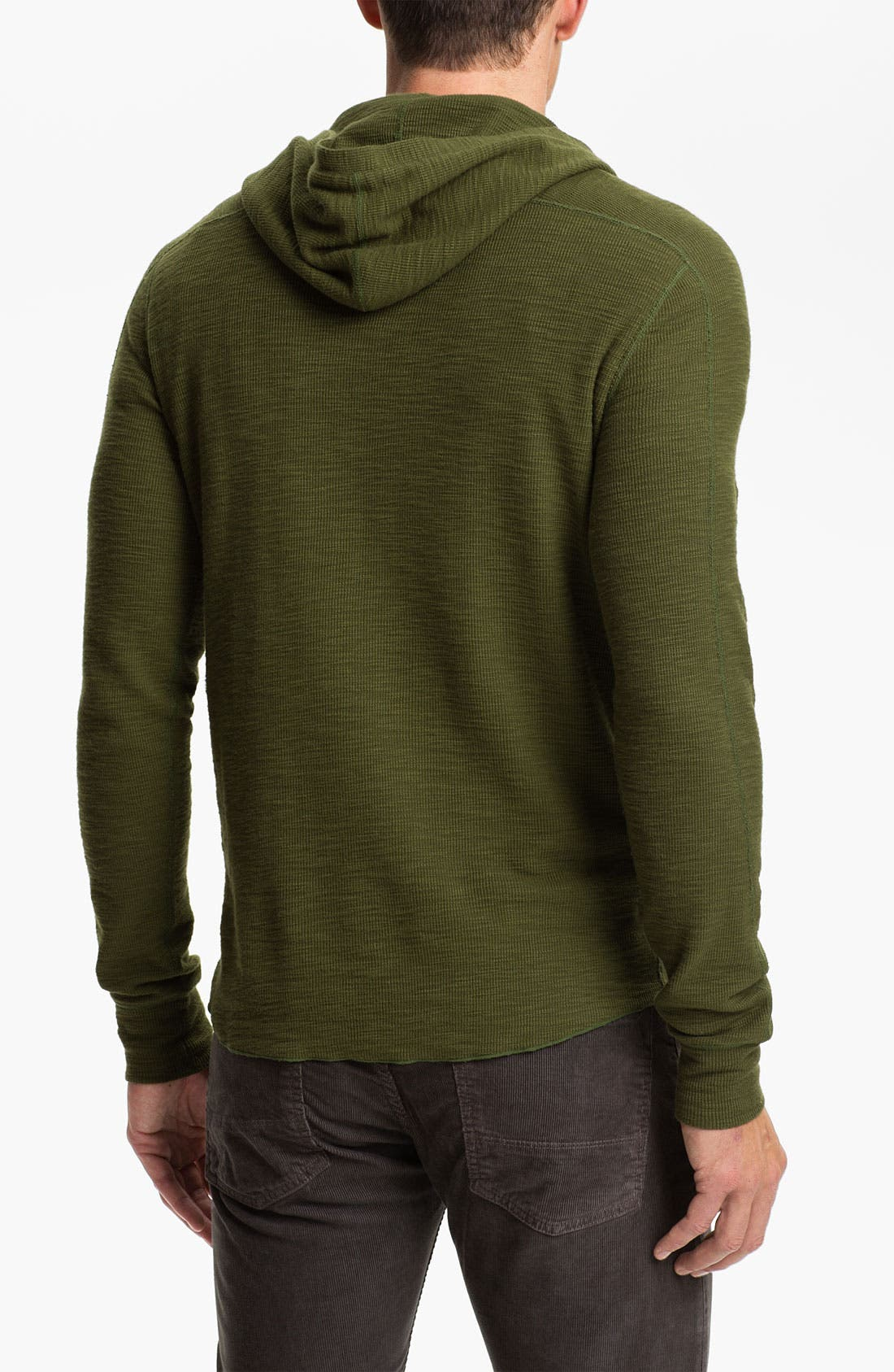 Alternate Image 2  - Vince Hooded Henley Thermal Shirt