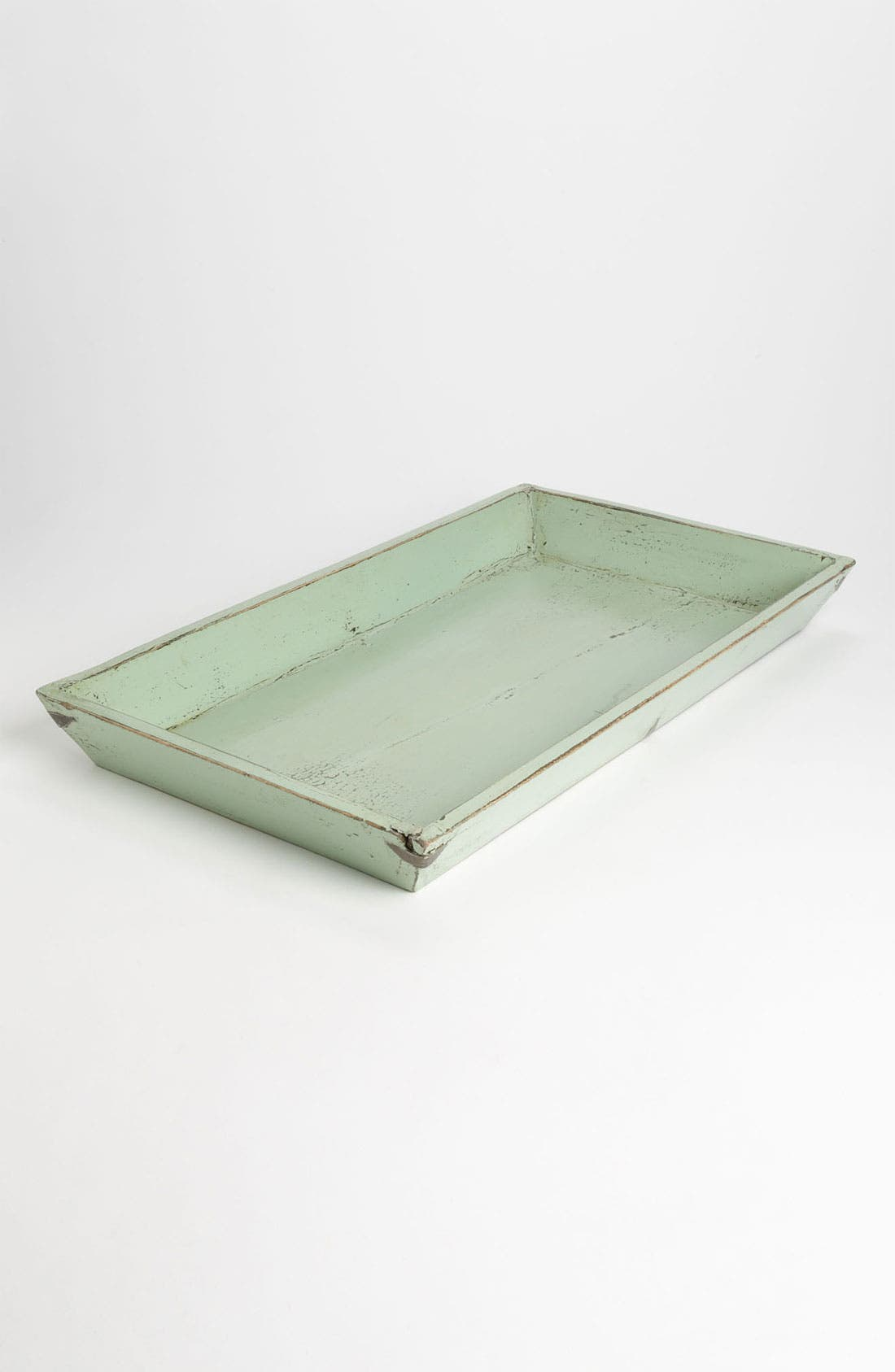 Reclaimed Wood Tray,                         Main,                         color, Green