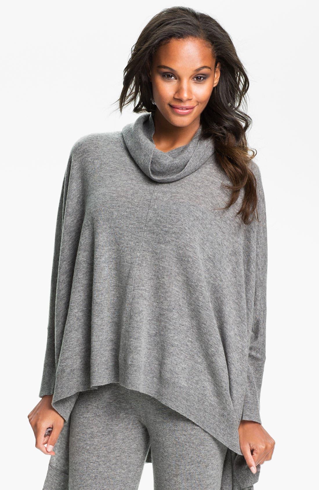 Main Image - Donna Karan 'Cozy' Sweater Knit Poncho