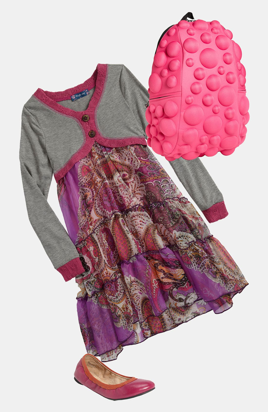 Alternate Image 1 Selected - Truly Me Dress & MadPax Backpack (Little Girls & Big Girls)